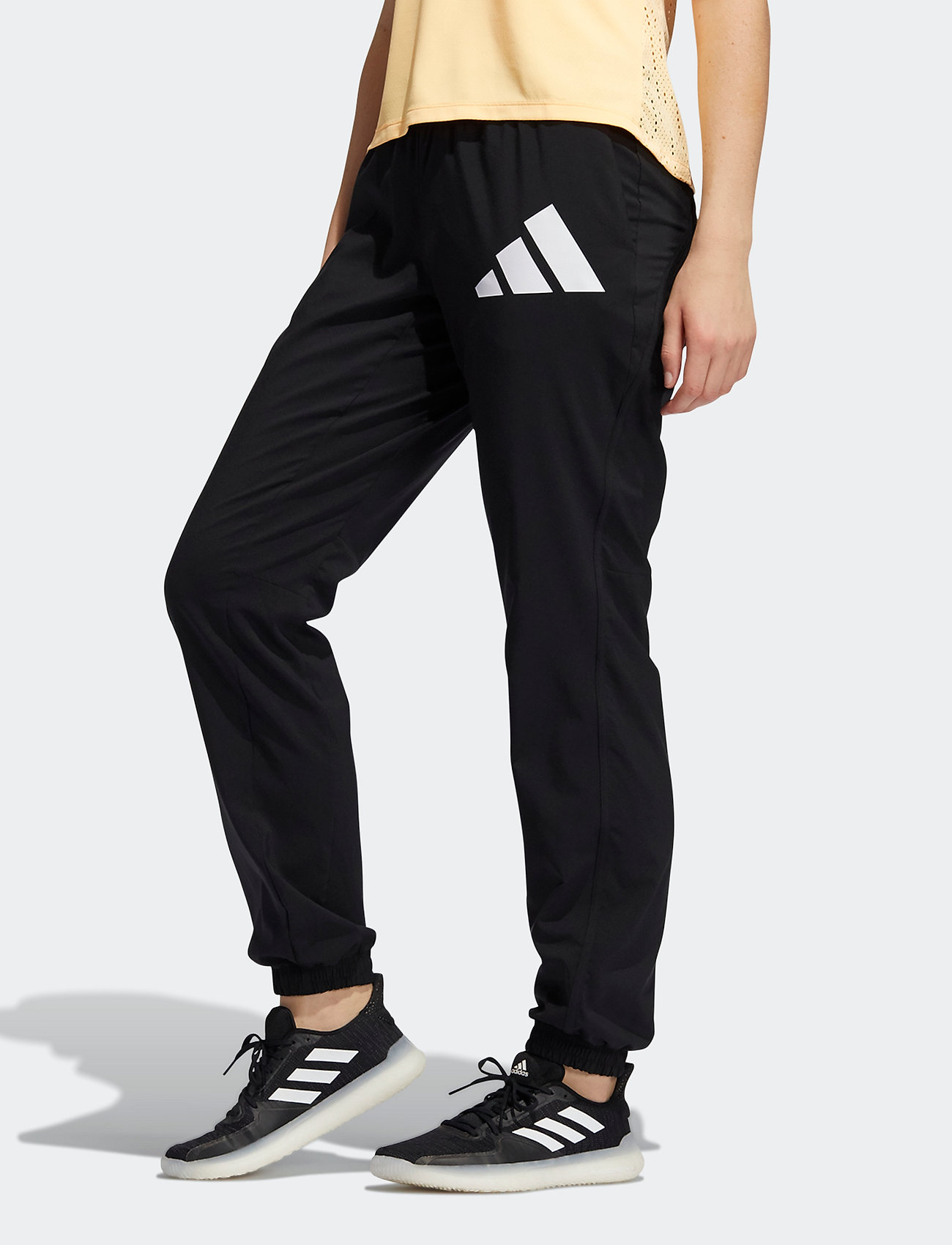 adidas Performance - 3 Bar Logo Warm-Up Sports Pants W - træningsbukser - black/white - 0