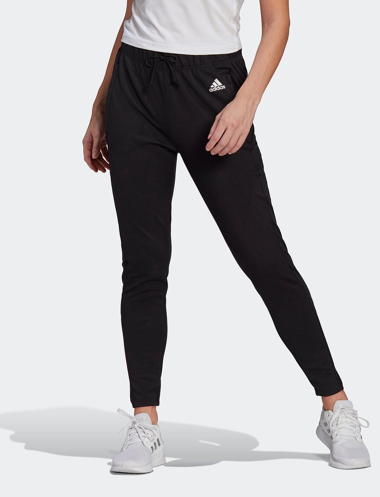 adidas Performance - Designed To Move AEROREADY Pants W - sportbroeken - black/white - 0