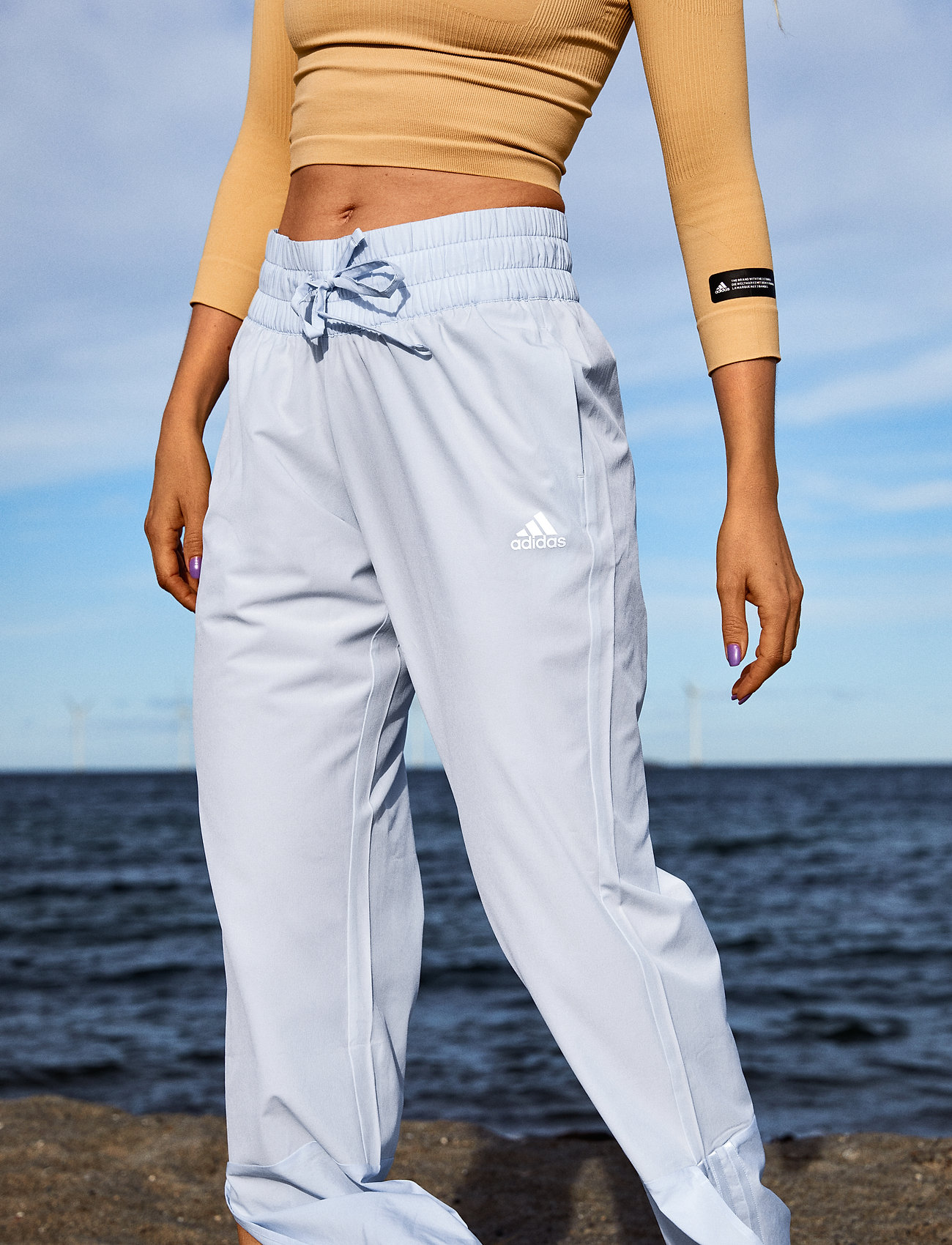 adidas Performance - Essentials AEROREADY Dance Pants W - sportbroeken - halblu/white - 0