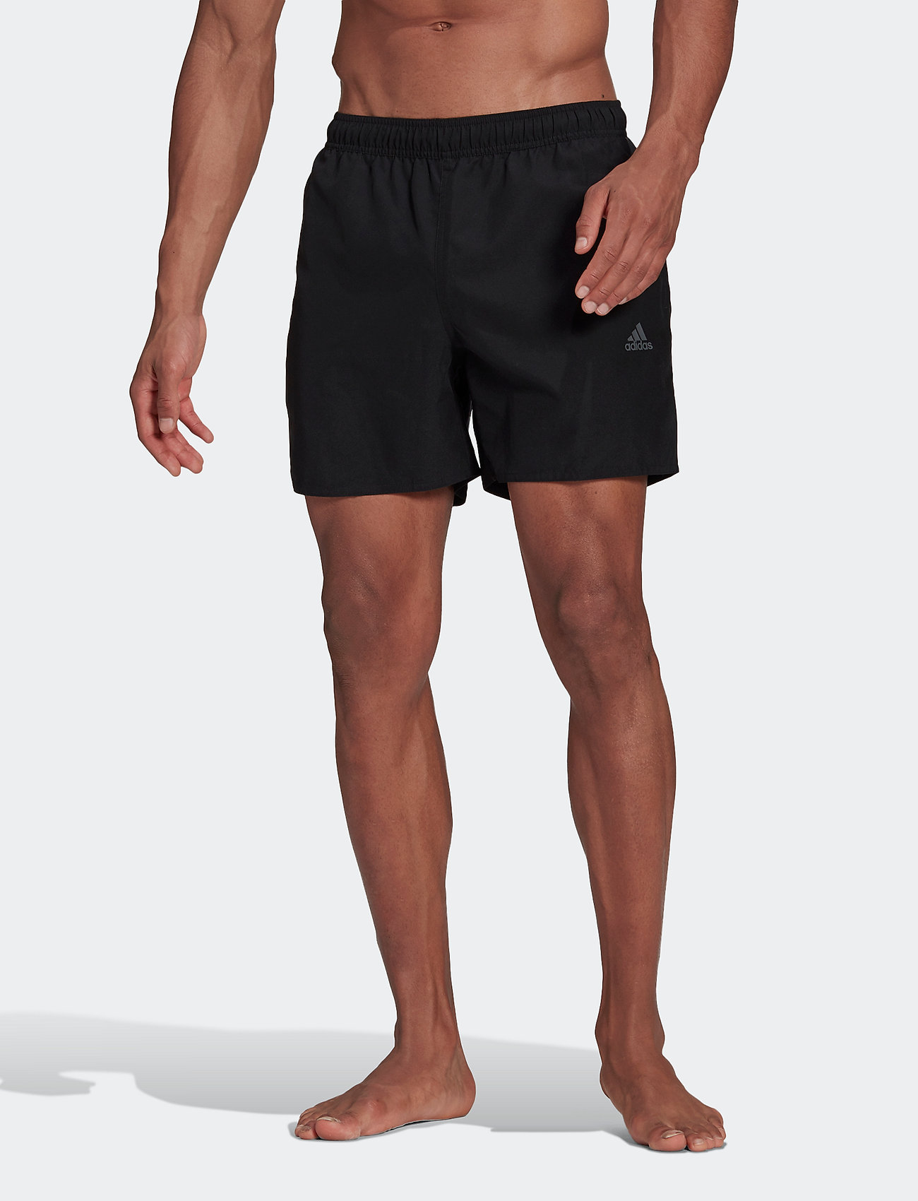 adidas Performance - Short-Length Colorblock 3-Stripes Swim Shorts - shorts - black/gresix - 0