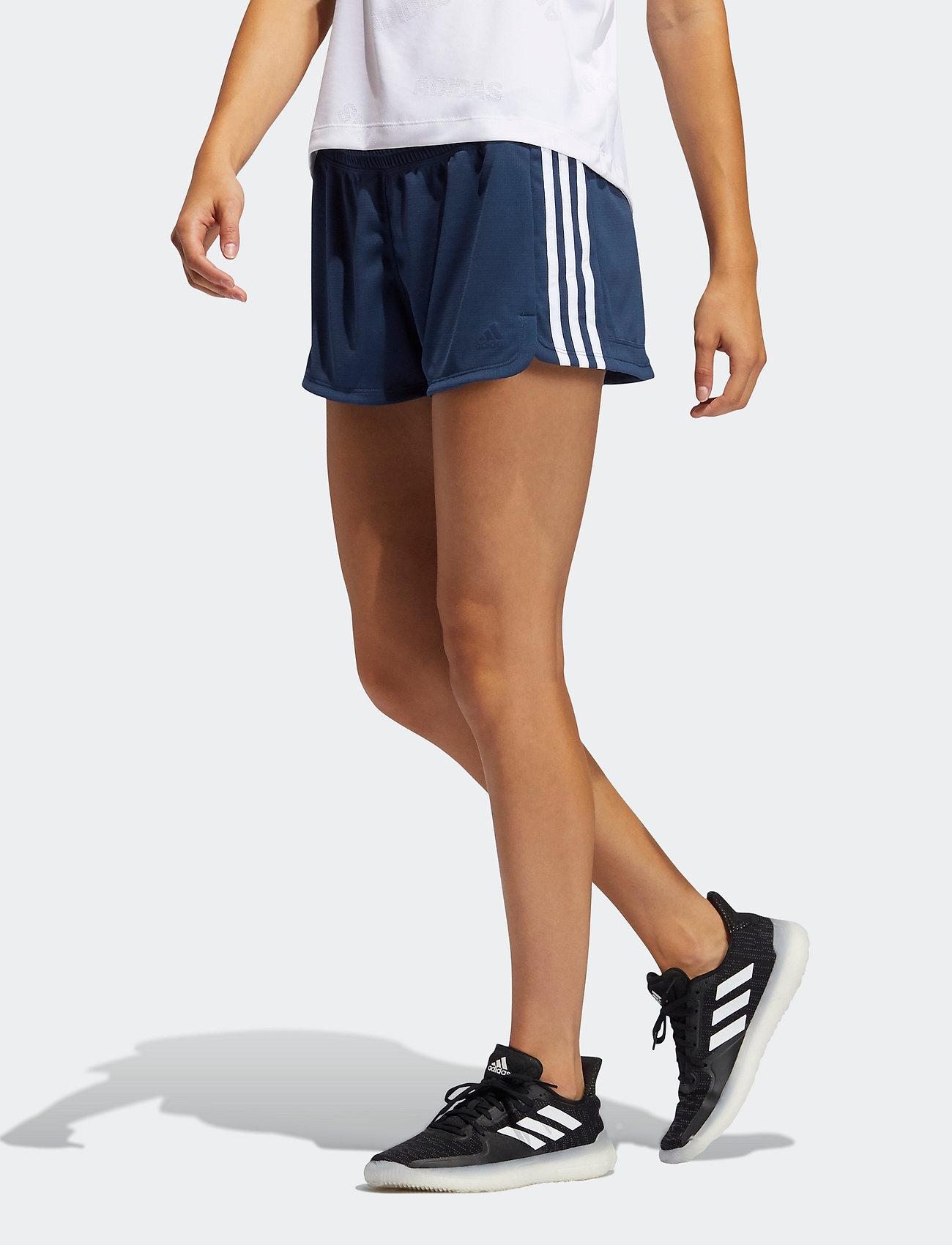 adidas Performance - Pacer 3-Stripes Knit Shorts W - training korte broek - crenav/white - 0
