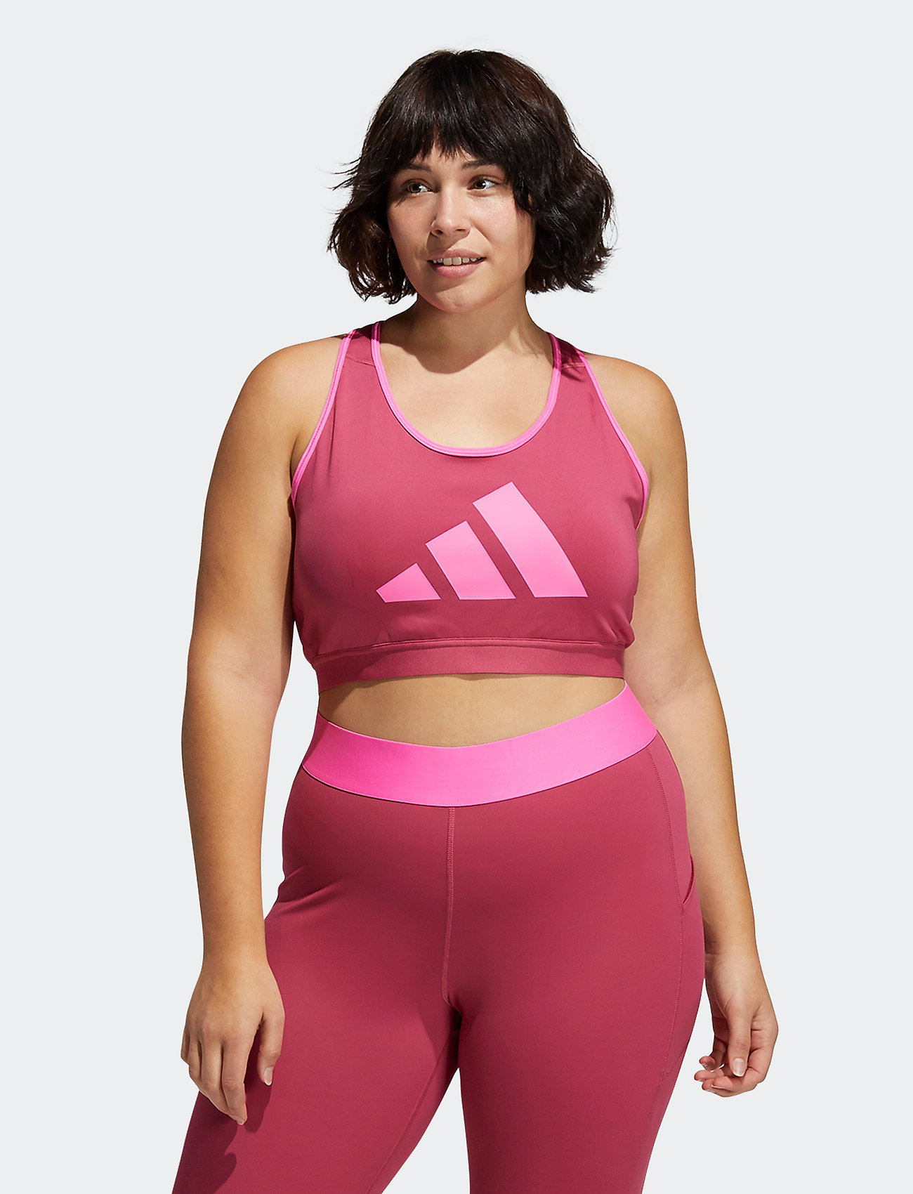 adidas Performance - Don't Rest Bra W (Plus Size) - sport bras: high support - wilpnk/scrpnk - 0