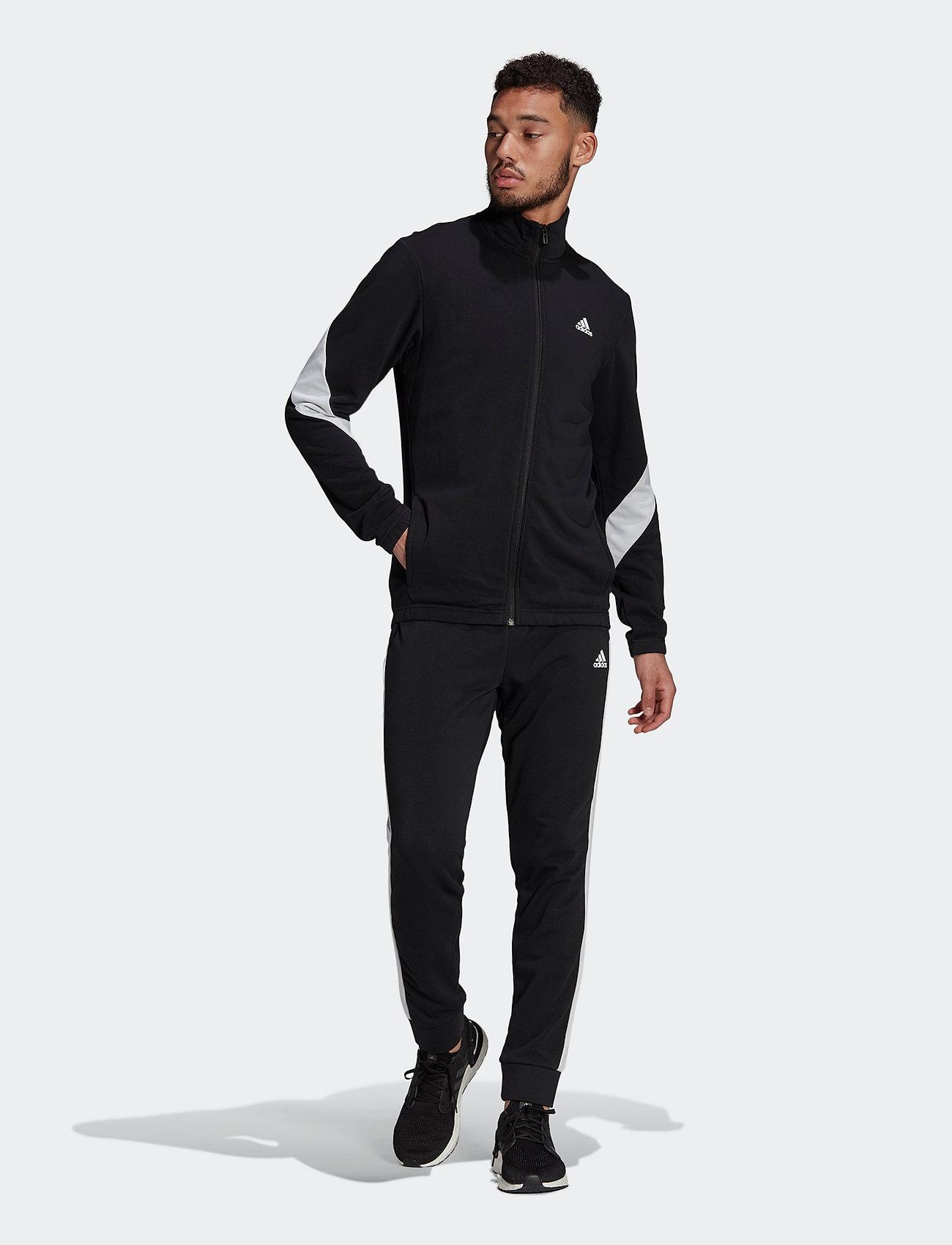adidas Performance - Sportswear Cotton Track Suit - dresy - black/white - 0