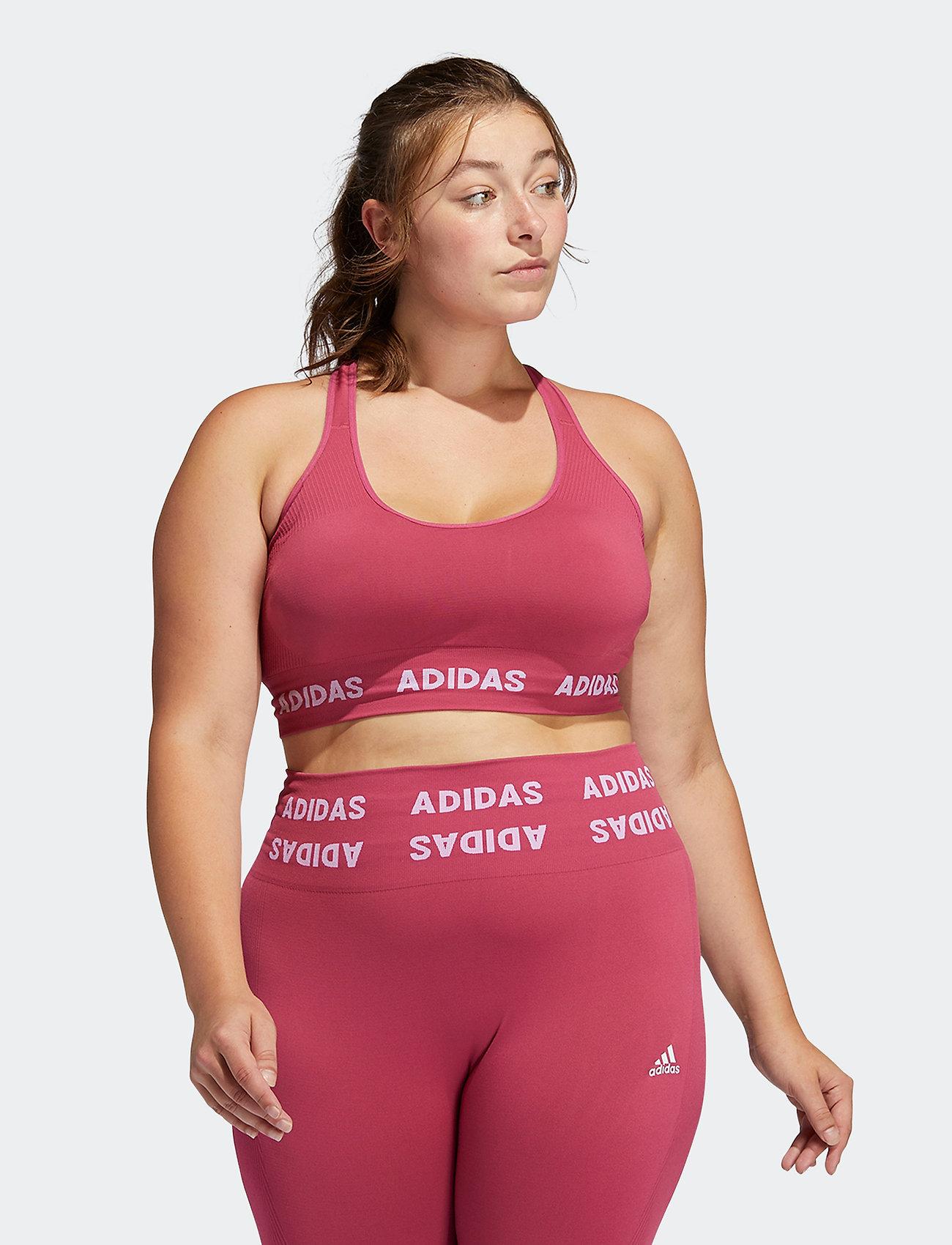 adidas Performance - Training Aeroknit Bra W (Plus Size) - sportbeh''s: low - wilpnk - 0