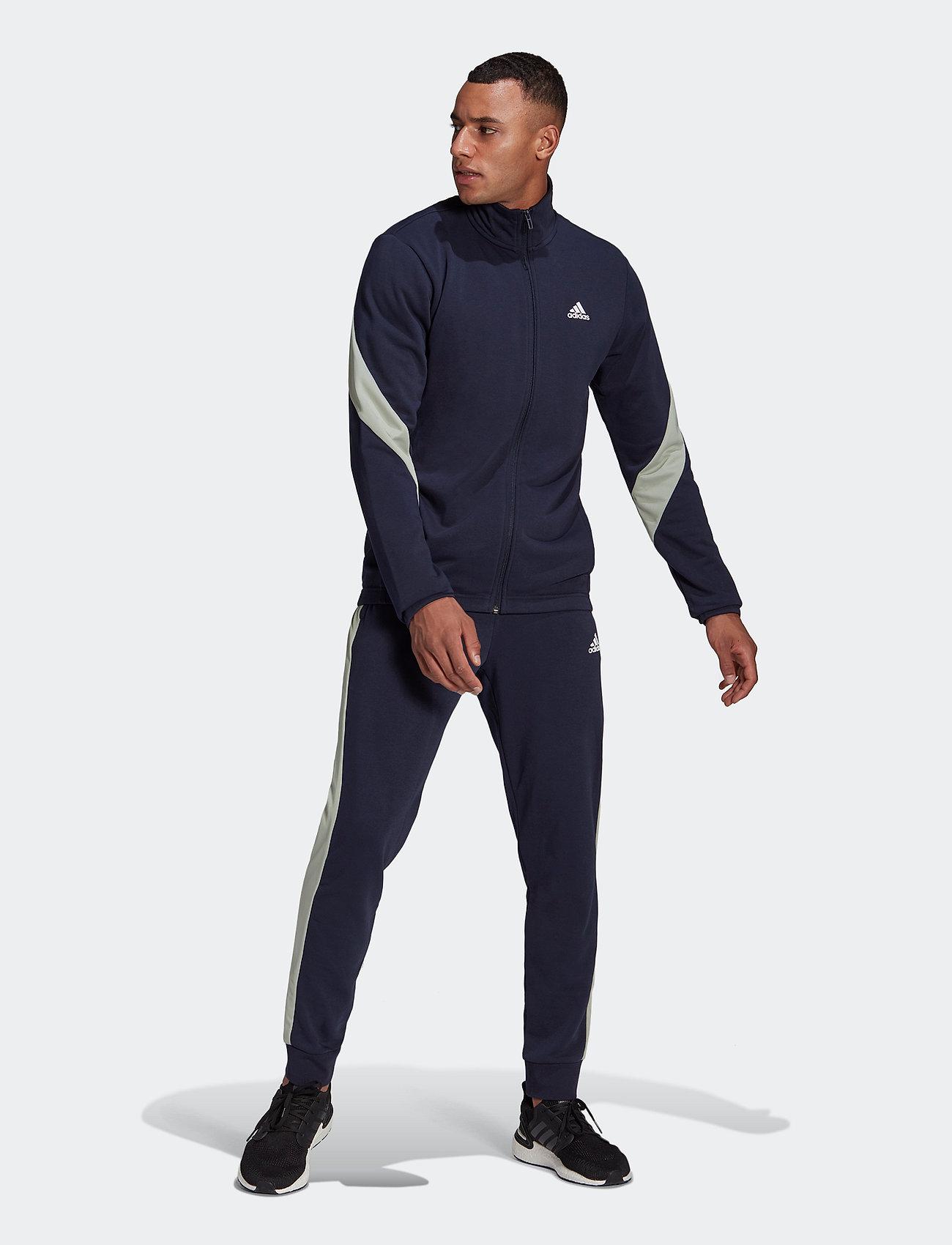 adidas Performance - Sportswear Cotton Track Suit - dresy - legink/cwhite - 0