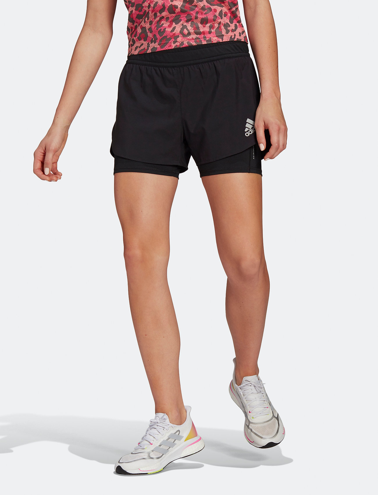 adidas Performance - Fast Primeblue Two-In-One Shorts W - træningsshorts - black - 0