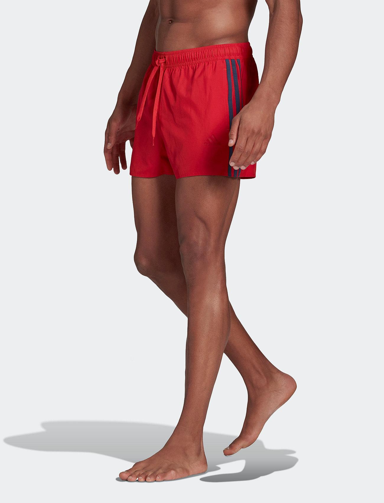 adidas Performance - Classic 3-Stripes Swim Shorts - shorts - glored/crenav - 0