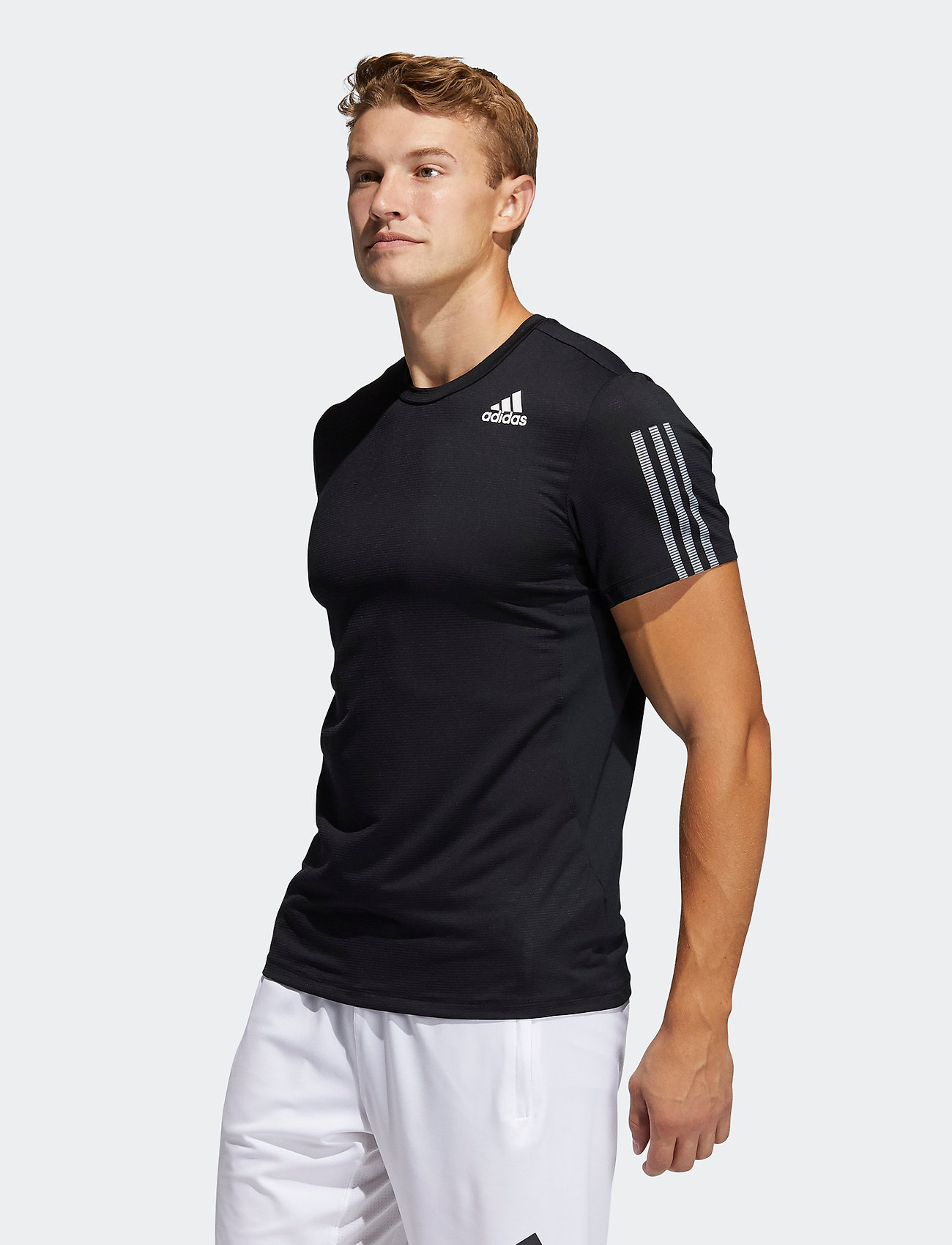 adidas Performance - Primeblue AEROREADY 3-Stripes Slim T-Shirt - oberteile & t-shirts - black - 0