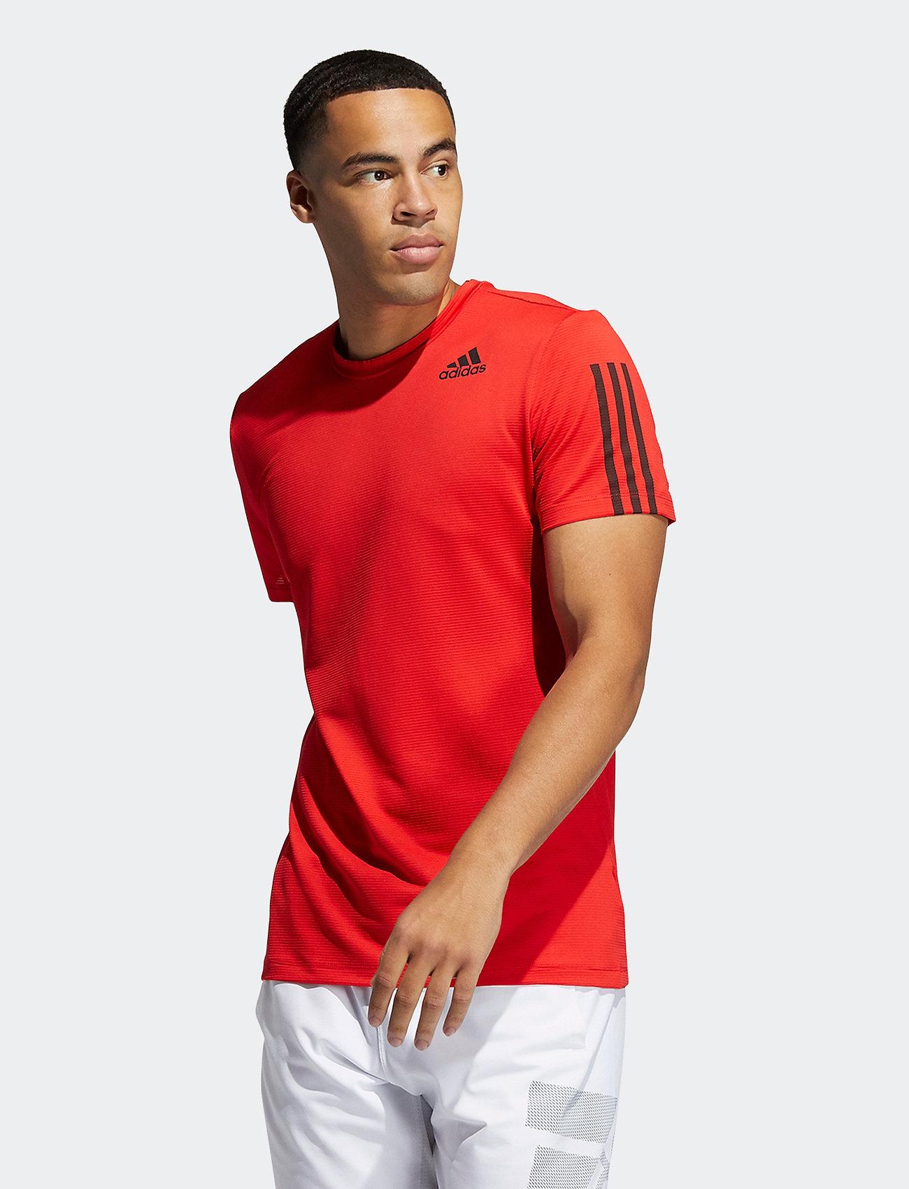 adidas Performance - Primeblue AEROREADY 3-Stripes Slim T-Shirt - sportoberteile - vivred - 0