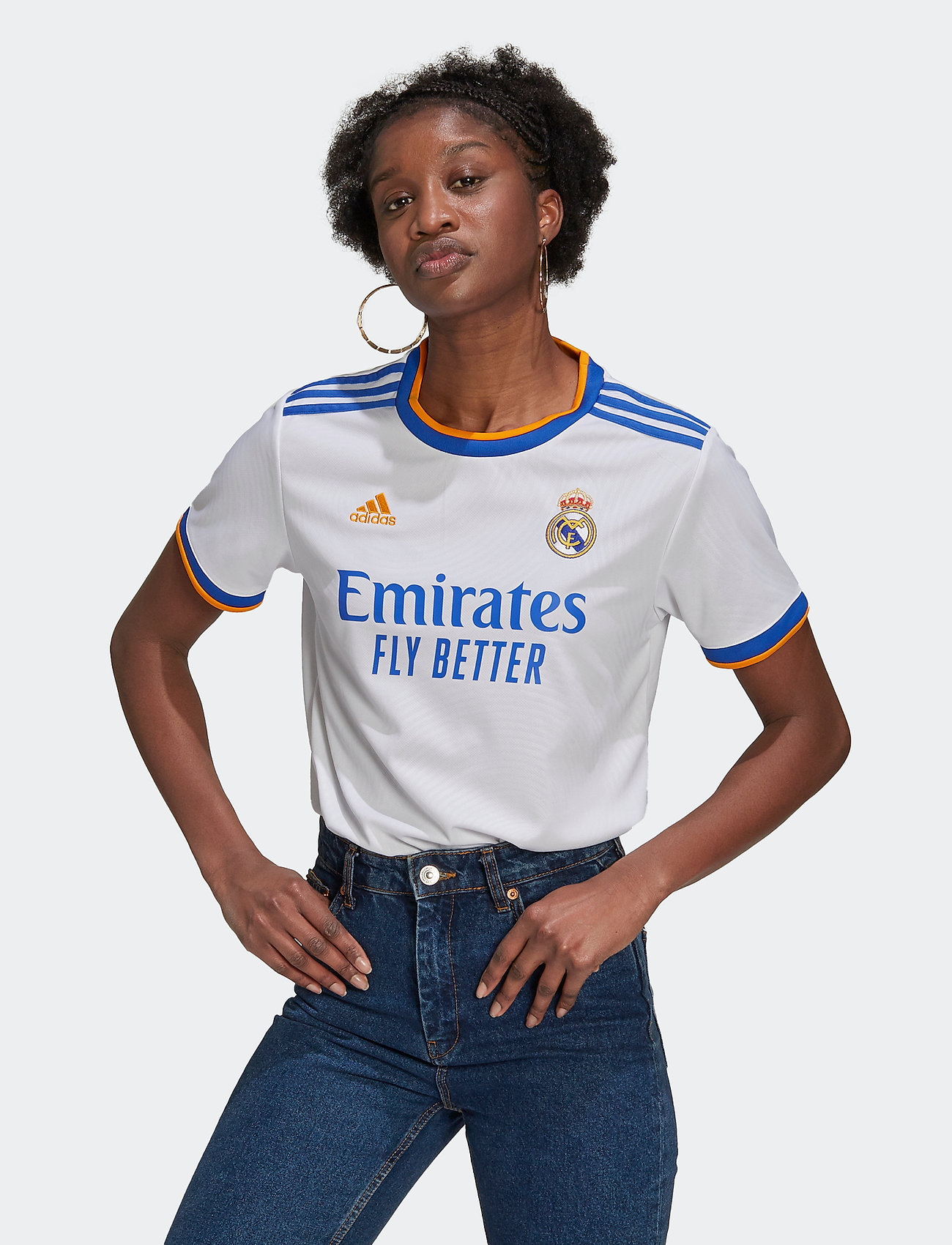 adidas Performance - Real Madrid 21/22 Home Jersey W - football shirts - white - 0