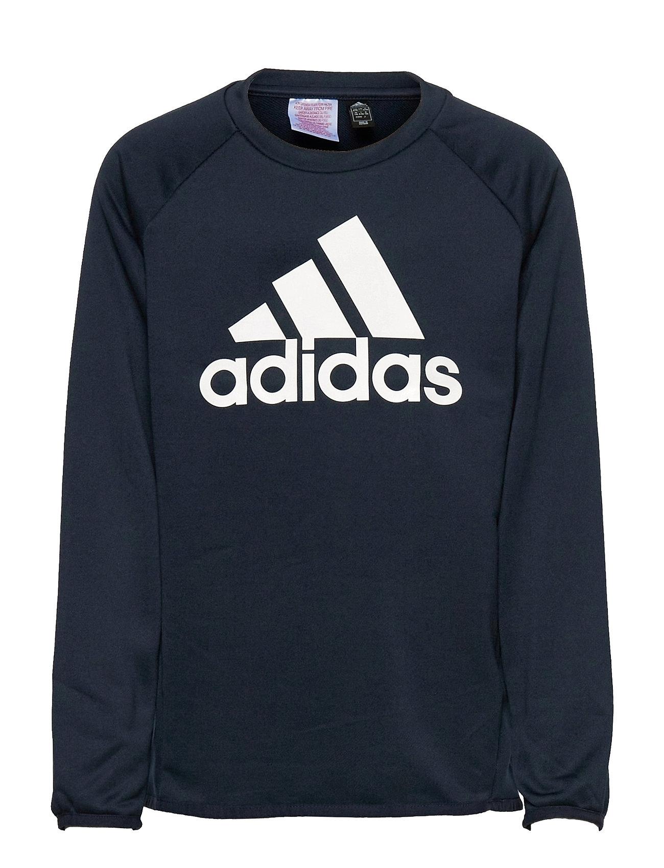 Designed To Move Big Logo Sweatshirt Sweatshirt Trøje Blå Adidas Performance