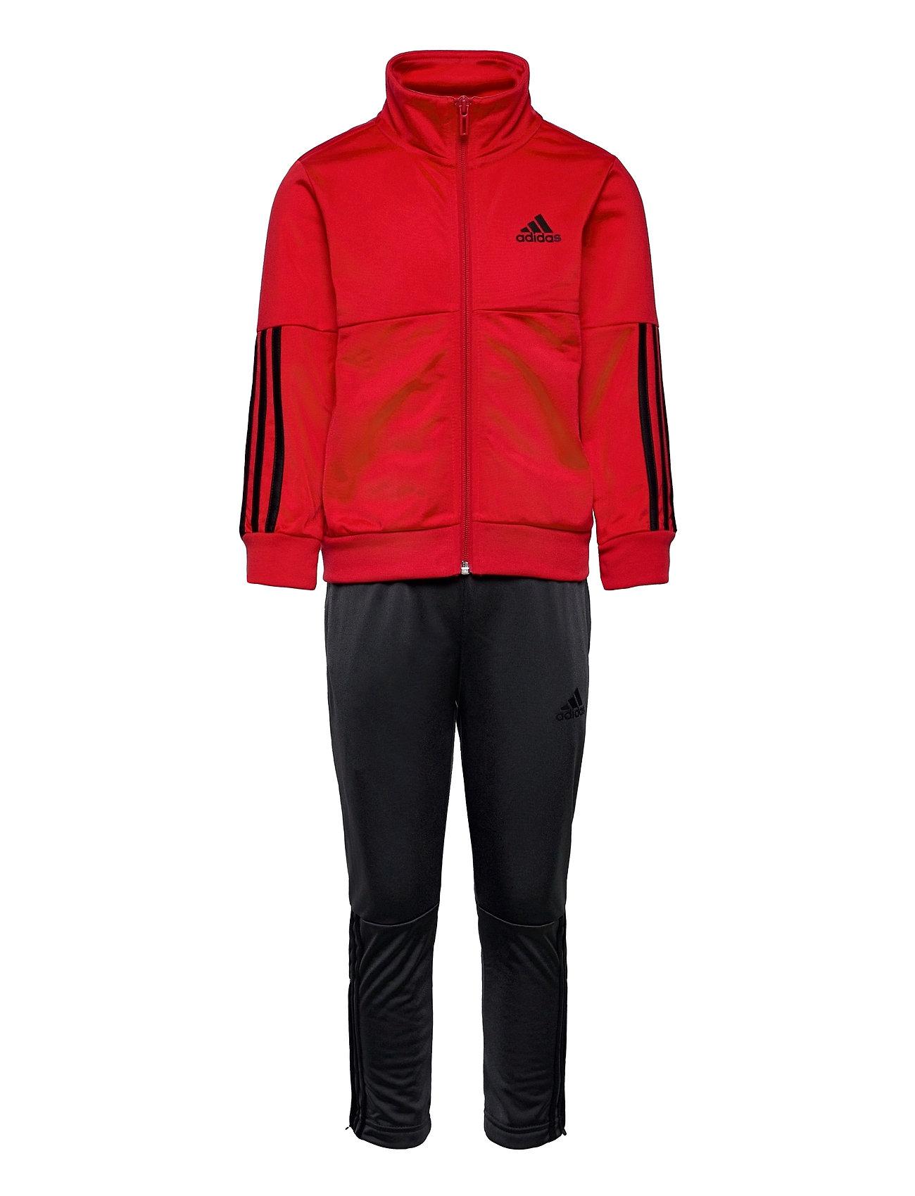 3-Stripes Team Track Suit Tracksuit Rød Adidas Performance