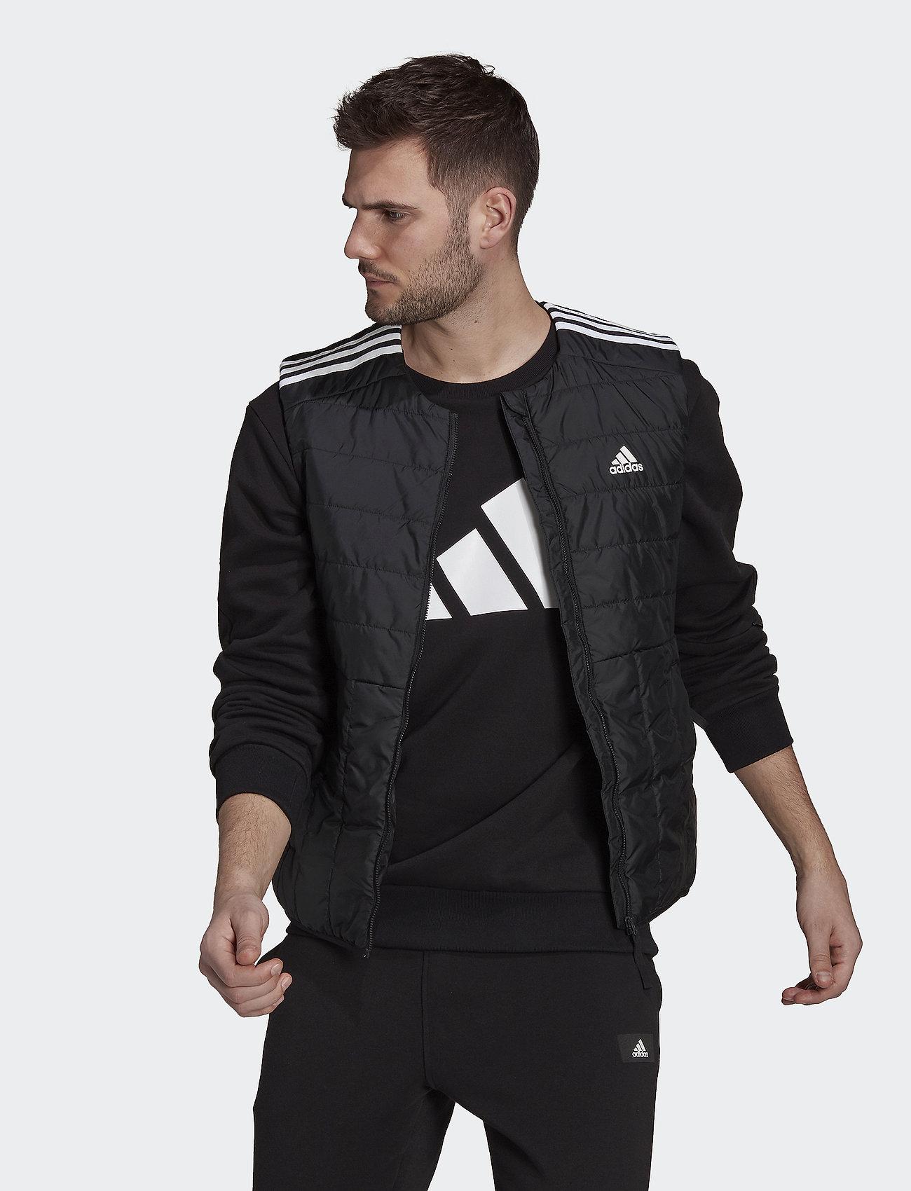 adidas Performance - Itavic 3-Stripes Light Vest - friluftsjackor - black - 0