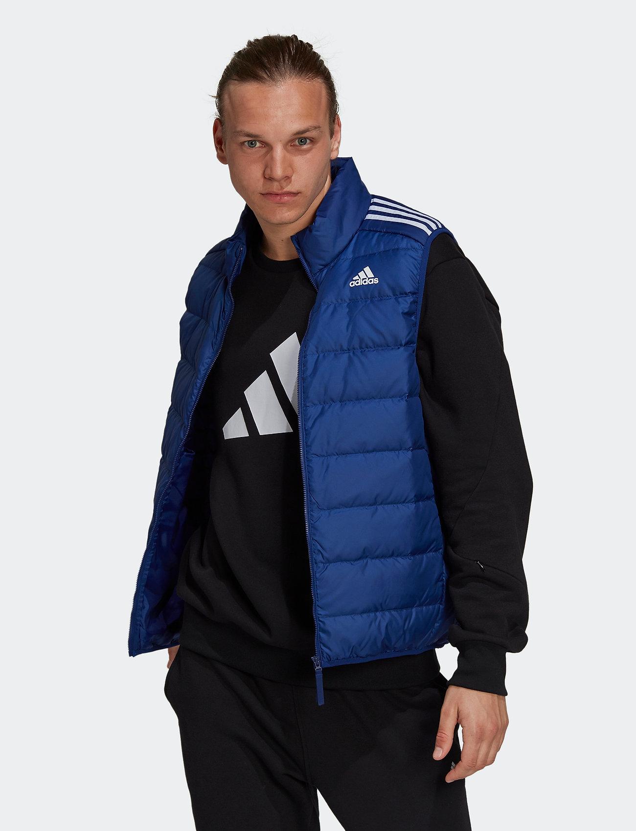 adidas Performance - Essentials Light Down Hooded Parka - sportjackor - vicblu - 0