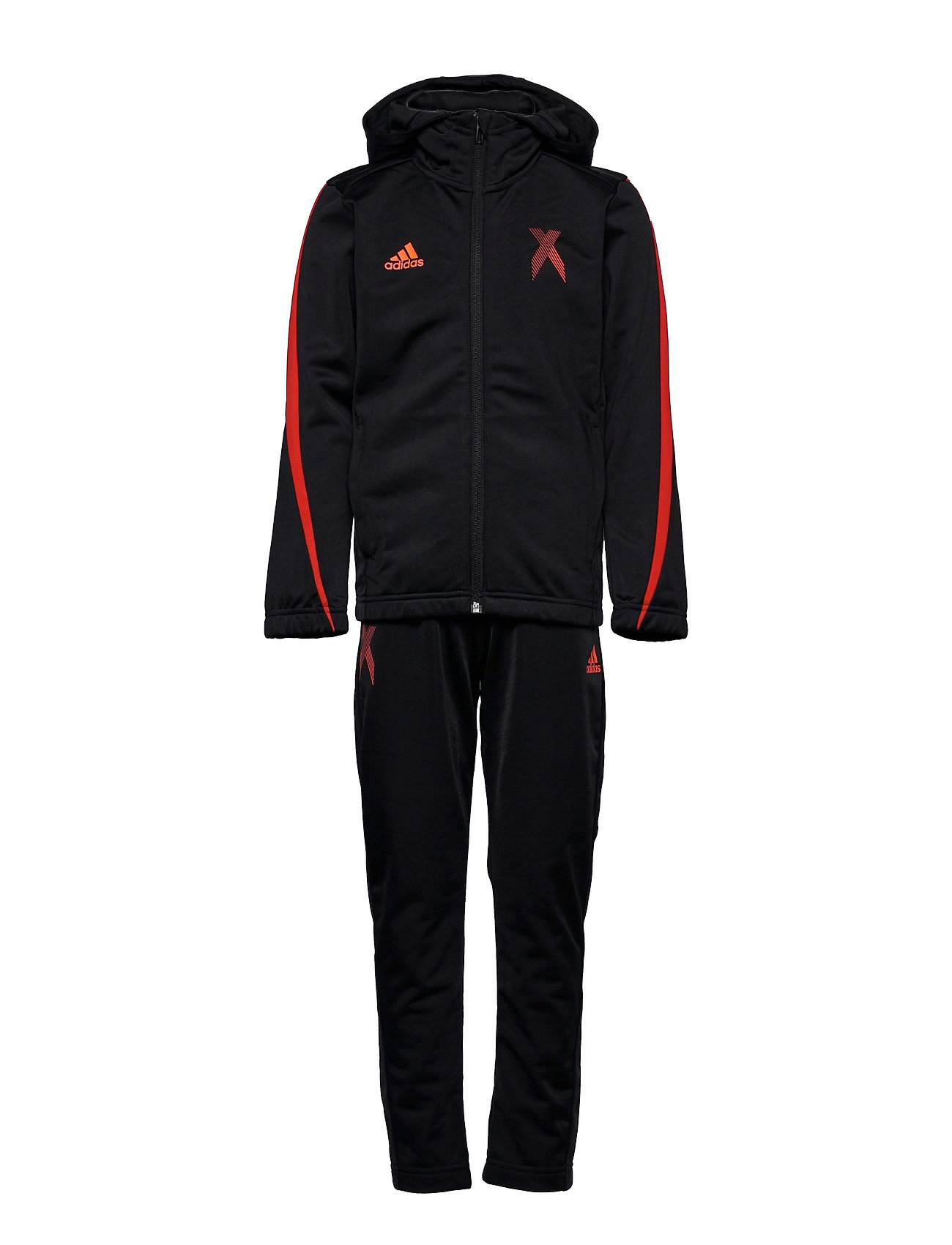 X Football-Inspired Track Suit Tracksuit Sort Adidas Performance