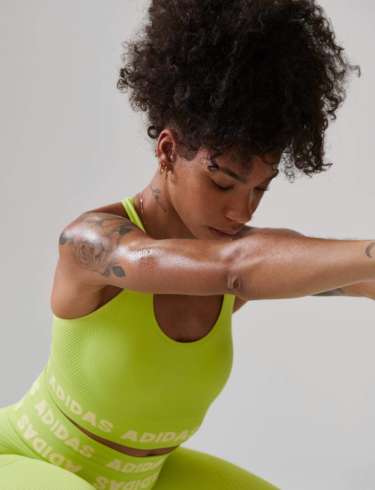adidas Performance - Training Aeroknit Bra W - sport bras: low - aciyel - 0