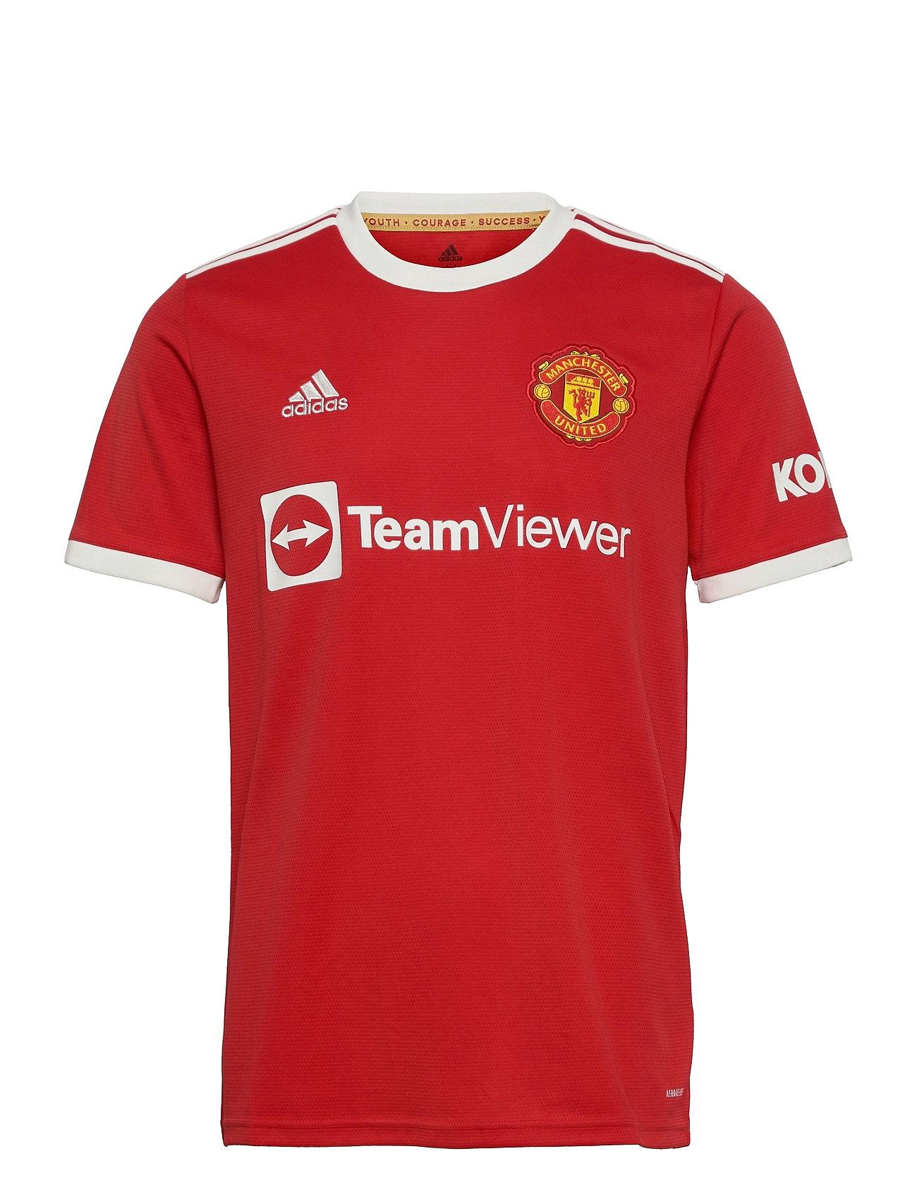 Manchester United 21/22 Home Jersey T-shirts Football Shirts Rød Adidas Performance