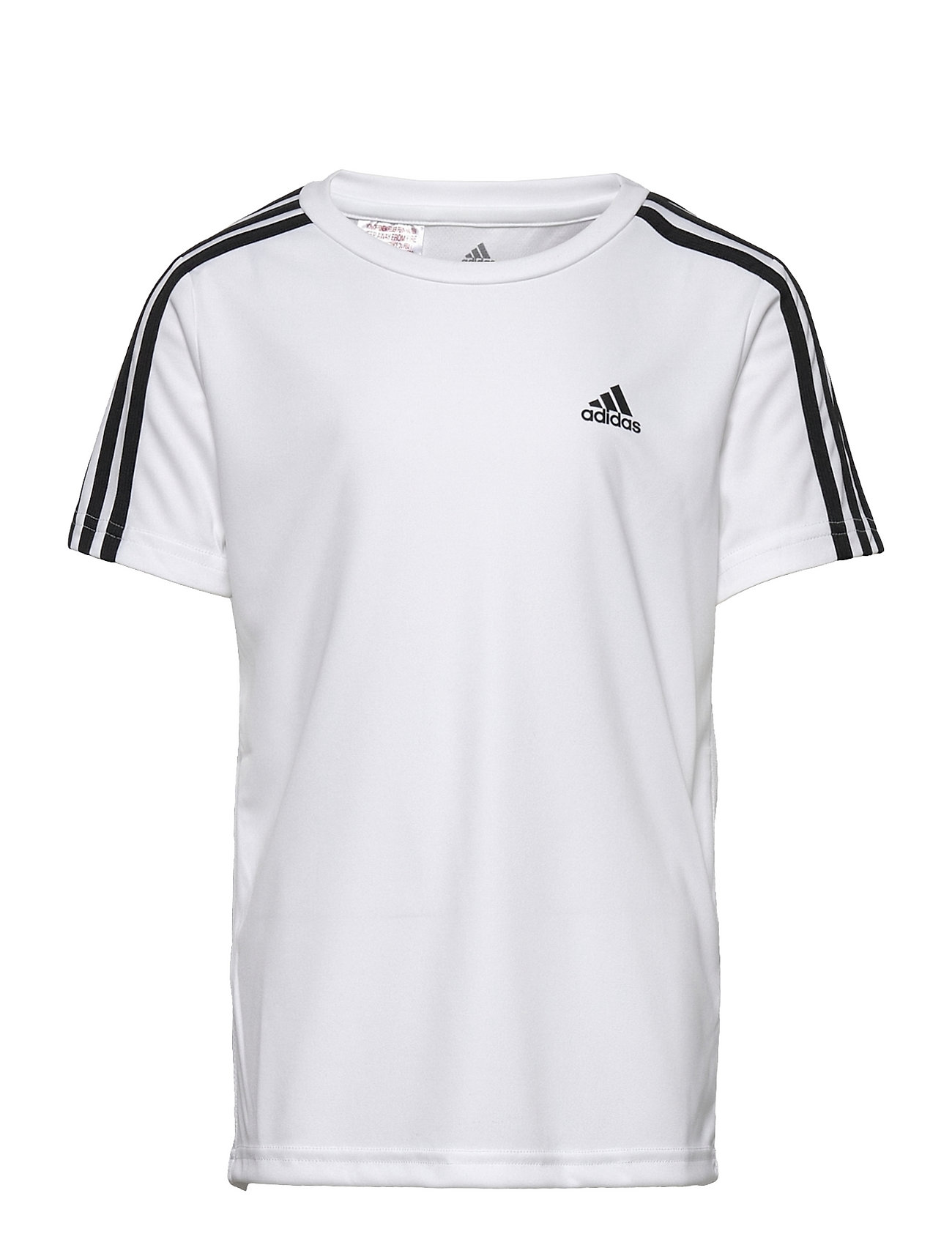Designed To Move 3-Stripes Tee T-shirt Hvid Adidas Performance
