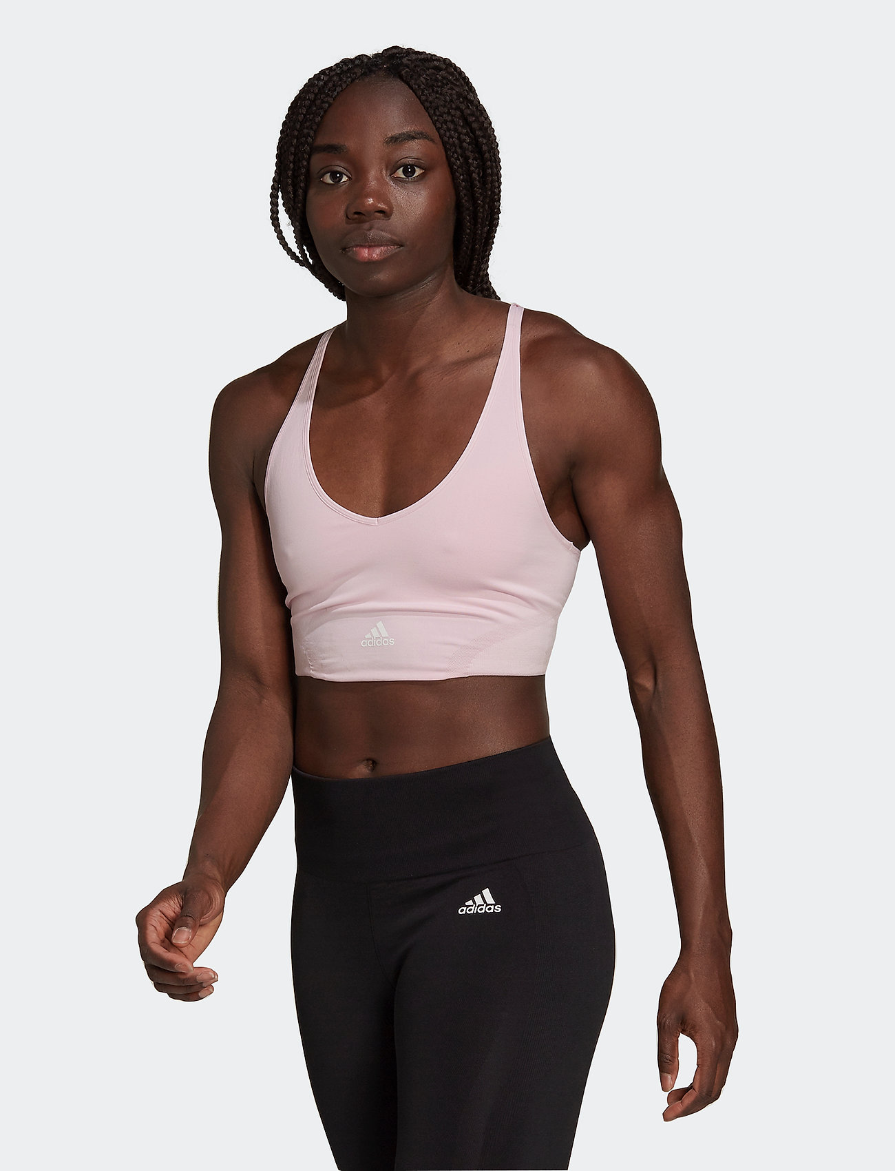 adidas Performance - Aeroknit Designed To Move Seamless Low Support Bra Top W - sport bras: low support - clpink - 0