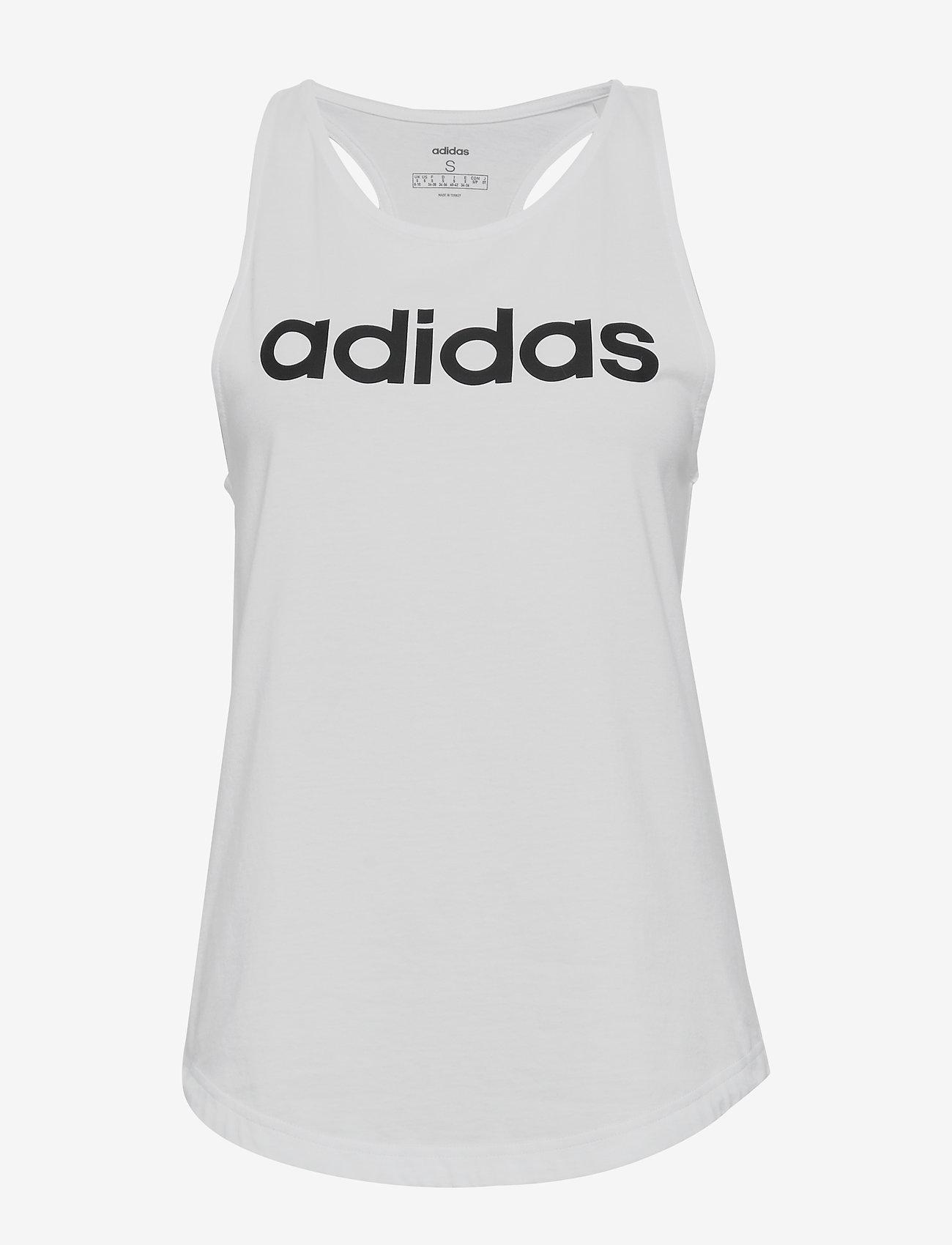 adidas Performance - Essentials Linear Tank Top W - topjes - white/black - 1