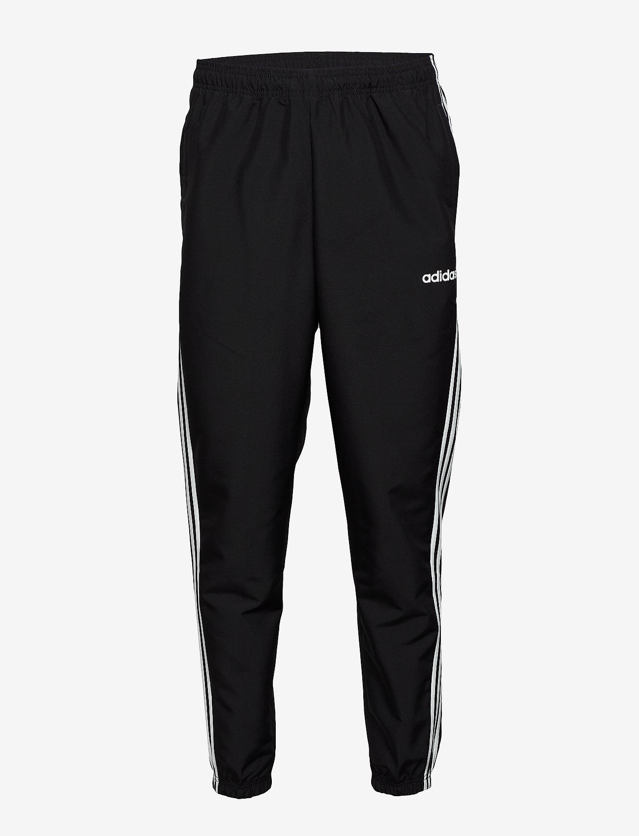 adidas Performance - Essentials 3-Stripes Wind Pants - treenihousut - black/white - 1
