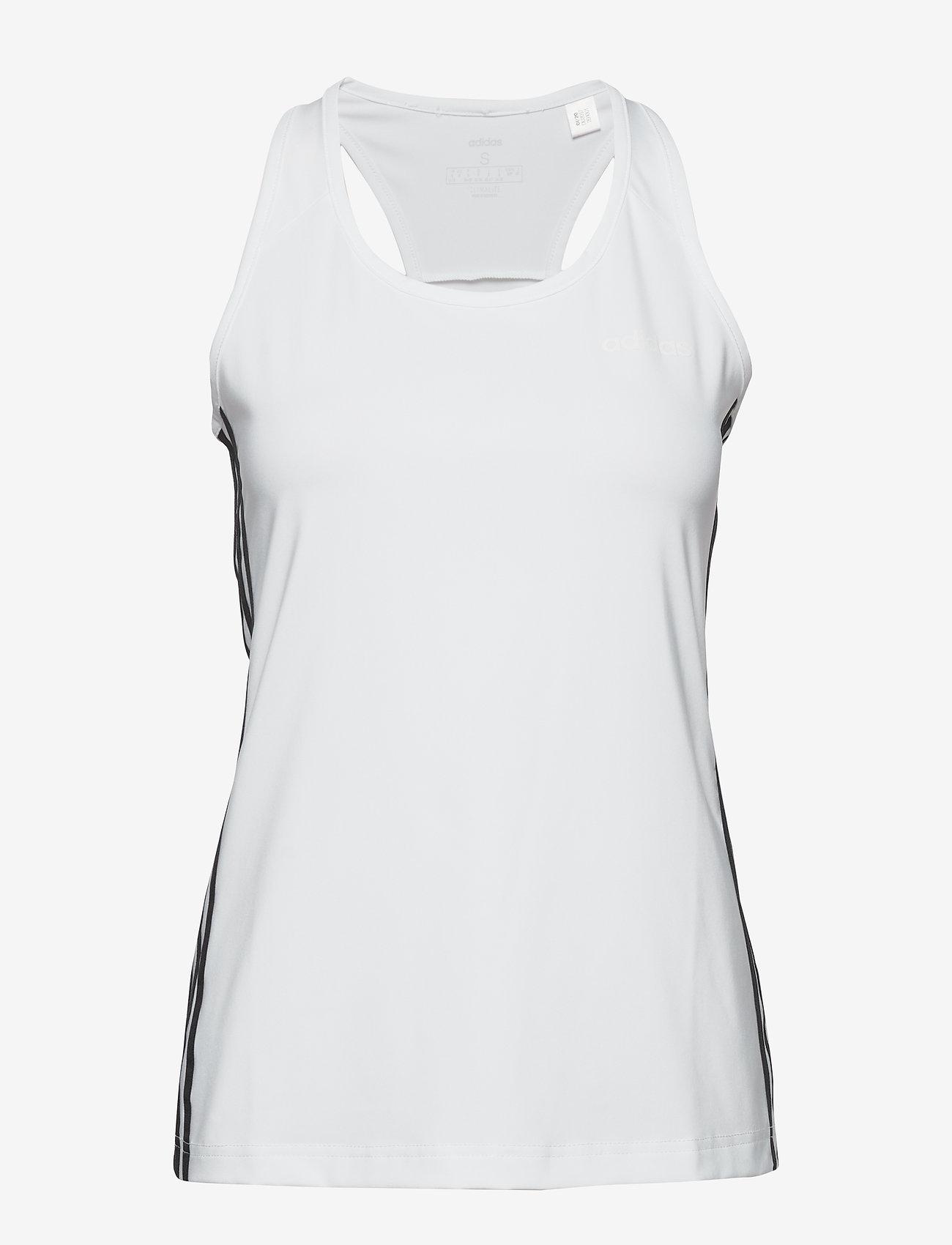 adidas Performance - Design 2 Move 3-Stripes Tank Top W - topjes - white/black - 1