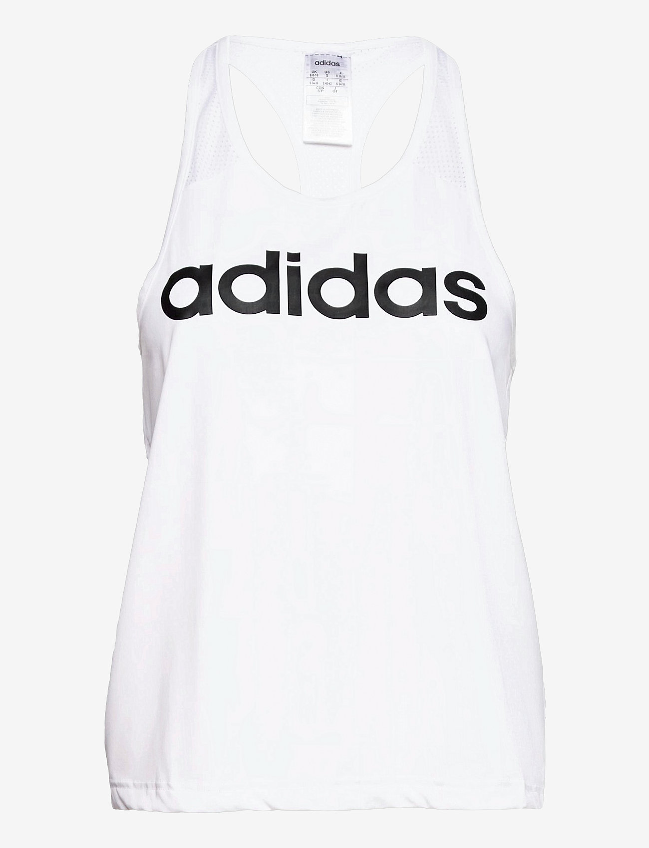 adidas Performance - Designed To Move Logo Tank Top W - topjes - white/black - 0