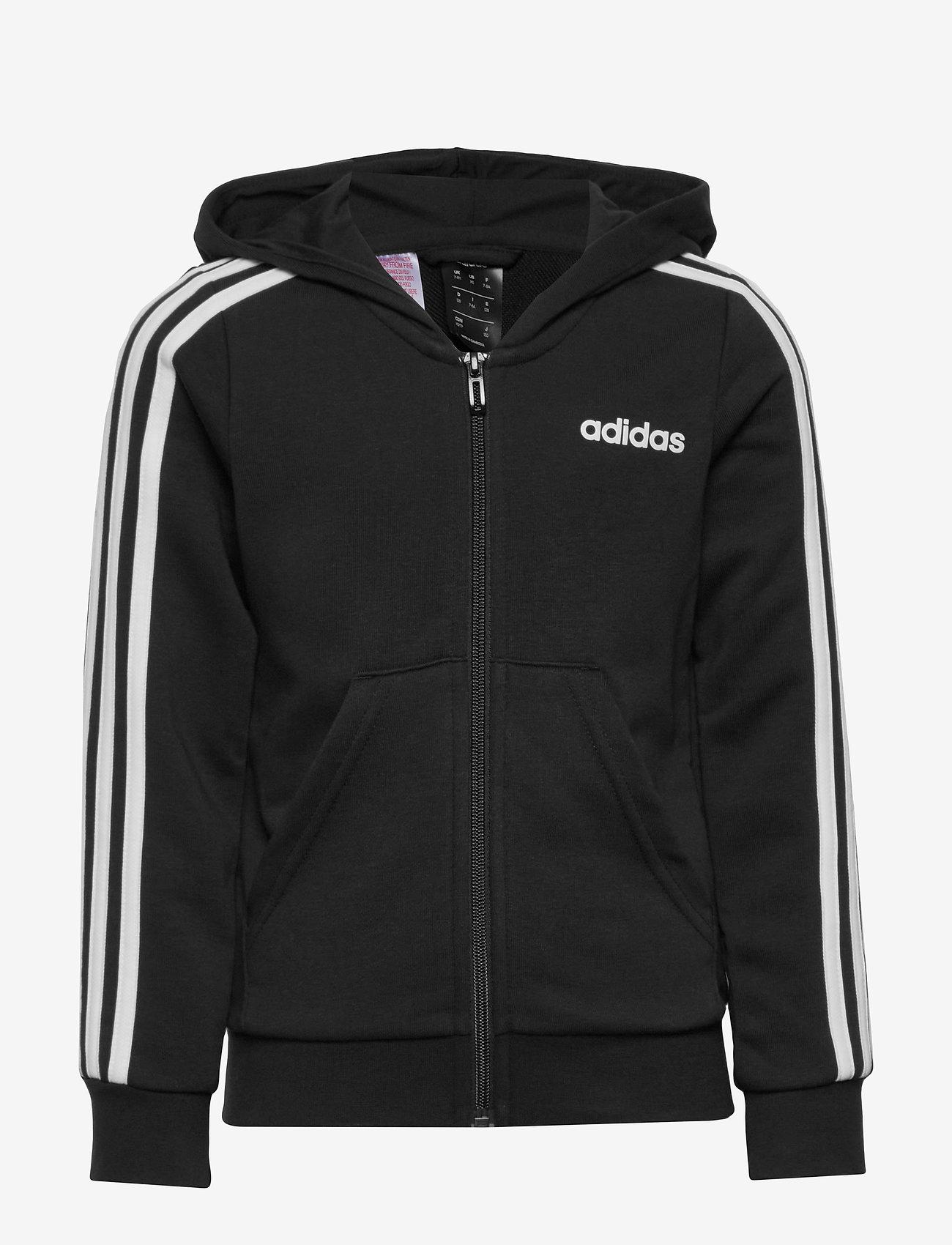 adidas Performance - YG E 3S FZ HD - kapuzenpullover - black/white - 0