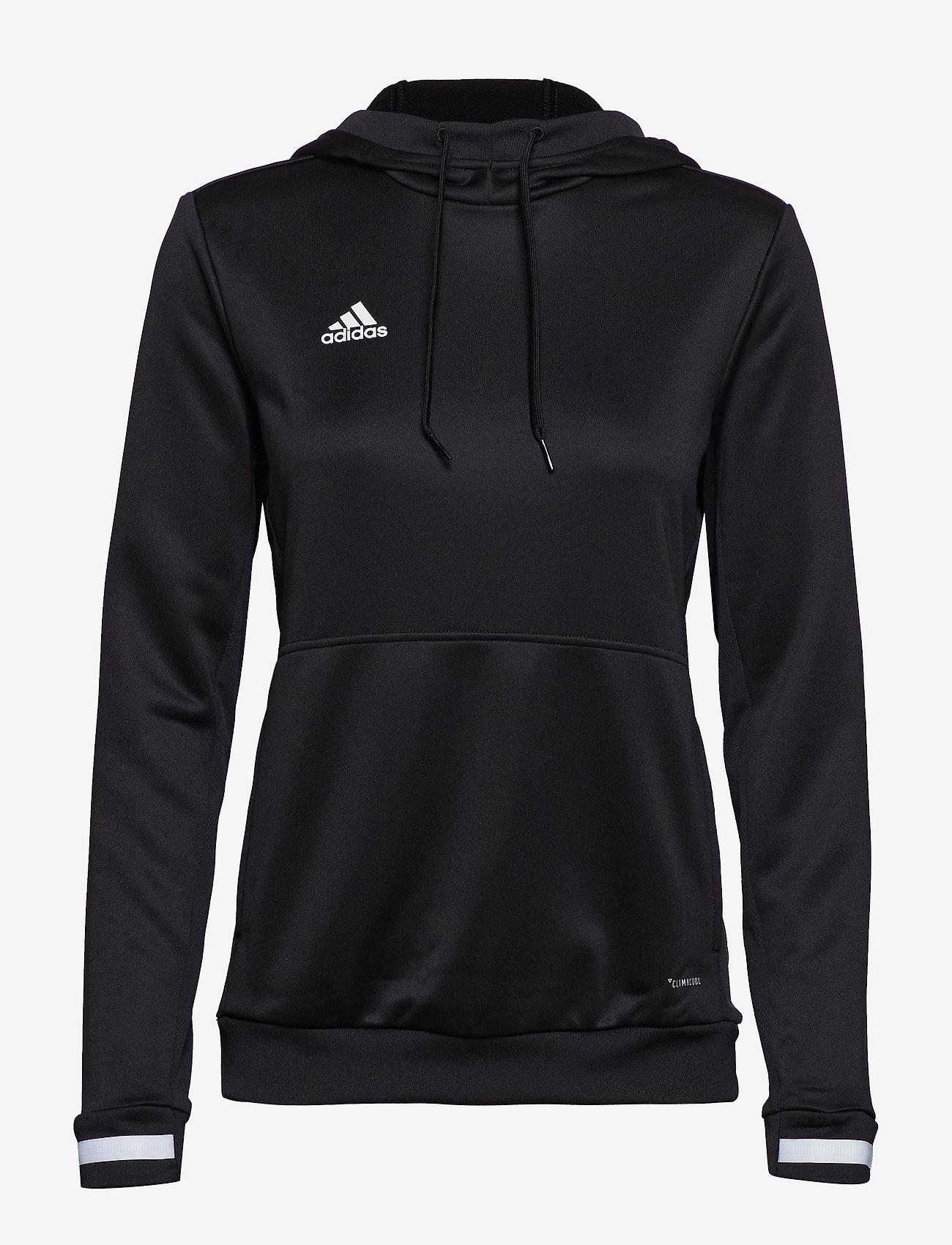 adidas Performance - Team 19 Hoodie W - hættetrøjer - black/white - 1