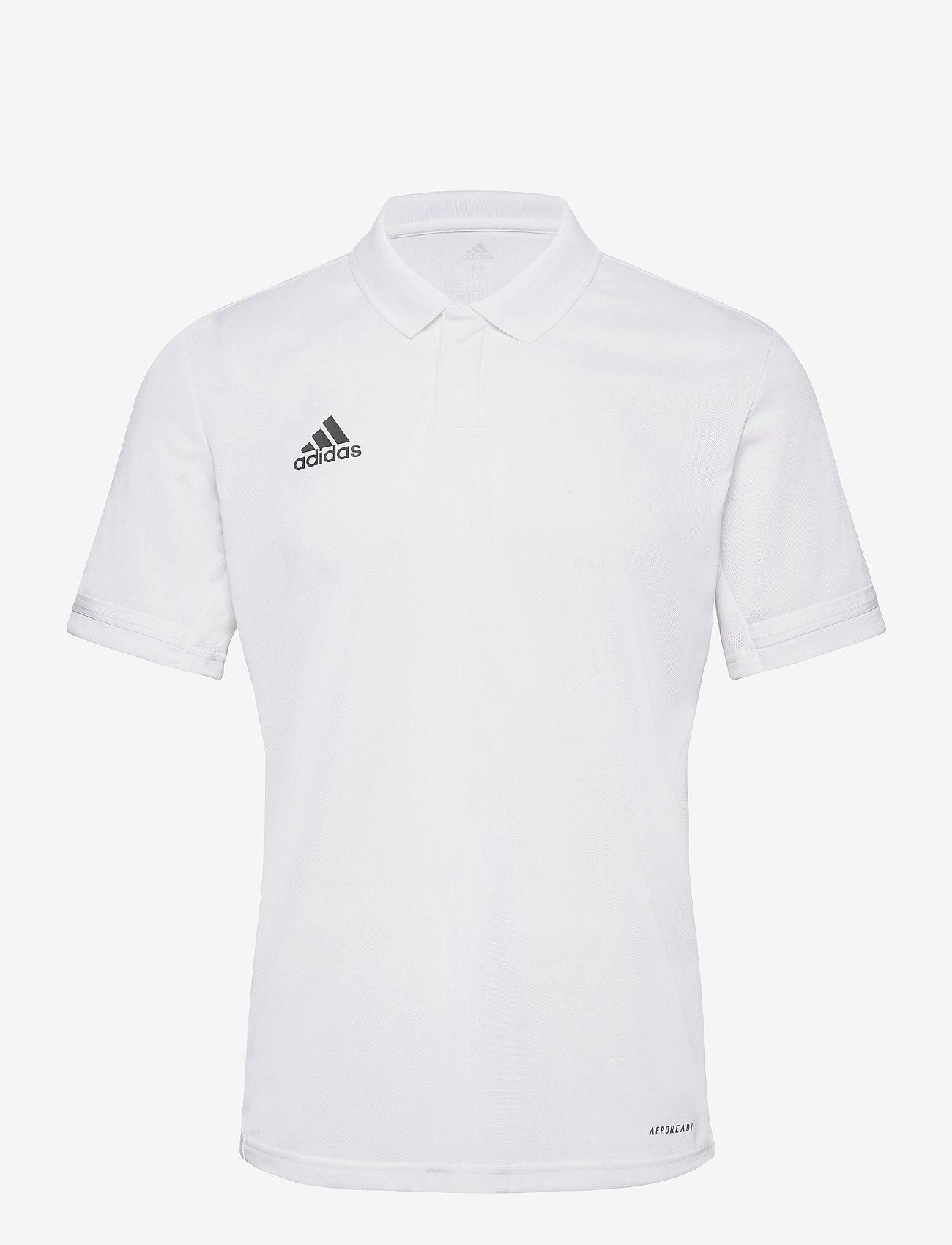 adidas Performance - Team 19 Polo Shirt - kortærmede - white - 0