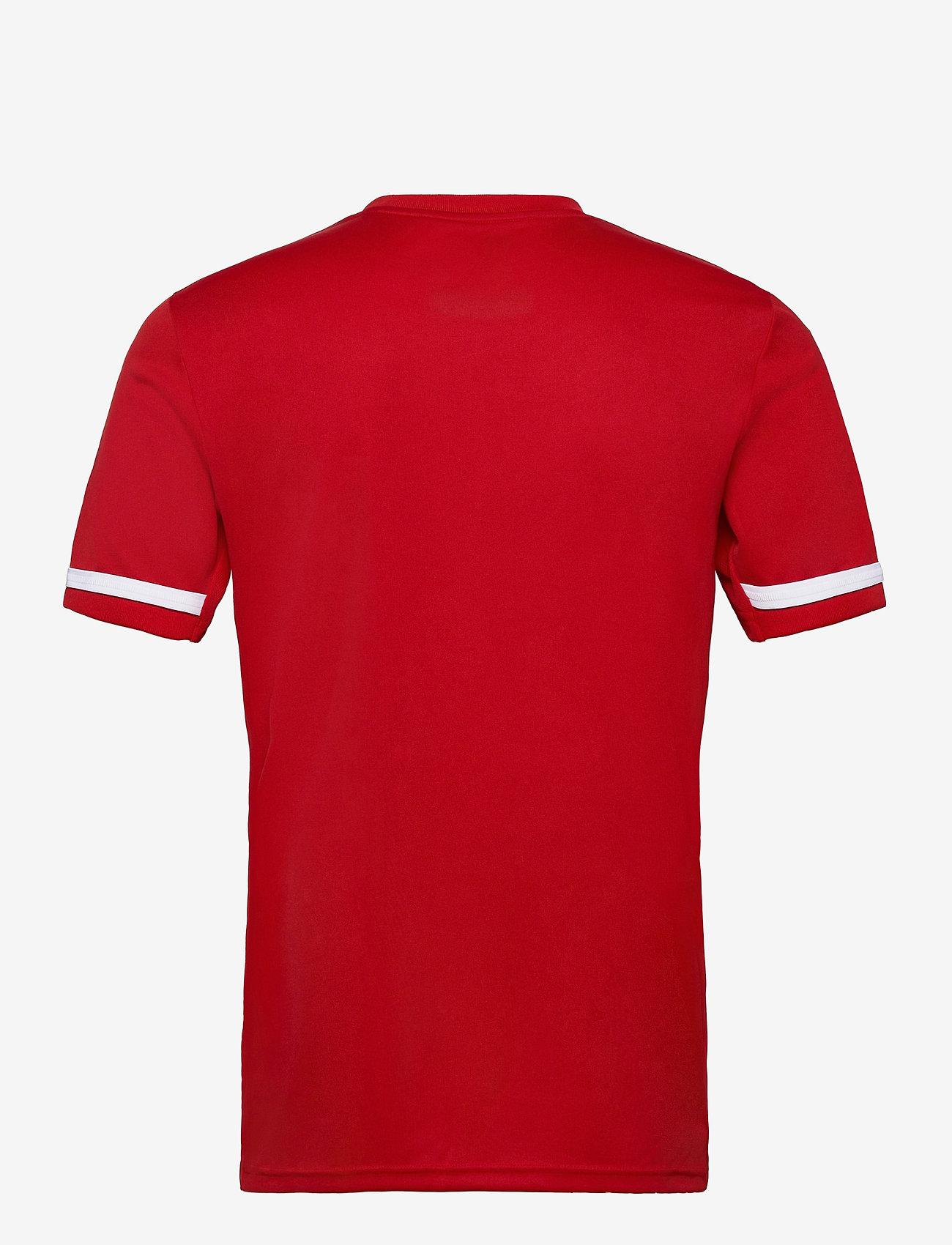adidas Performance - Team 19 Short Sleeve Jersey - football shirts - powred/white - 1