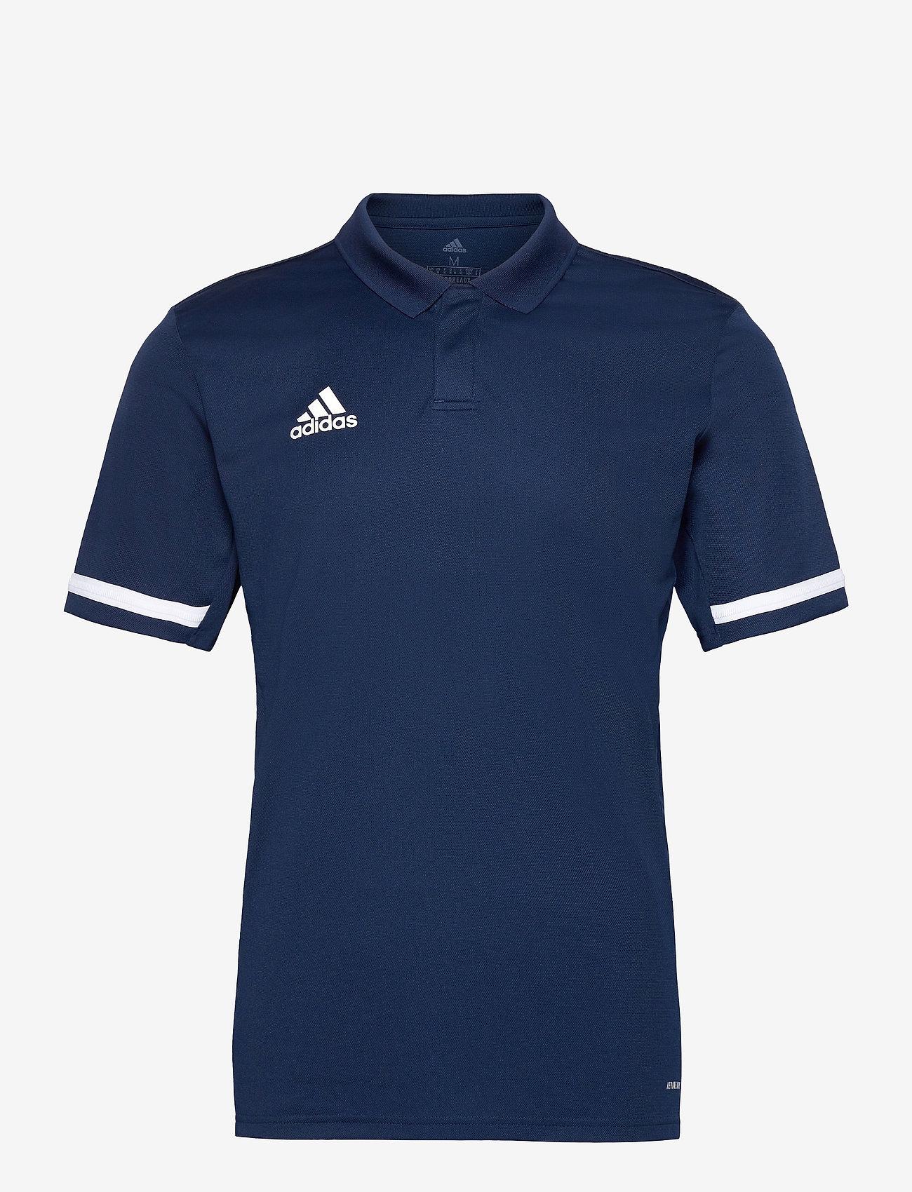 adidas Performance - Team 19 Polo Shirt - oberteile & t-shirts - navblu/white - 0