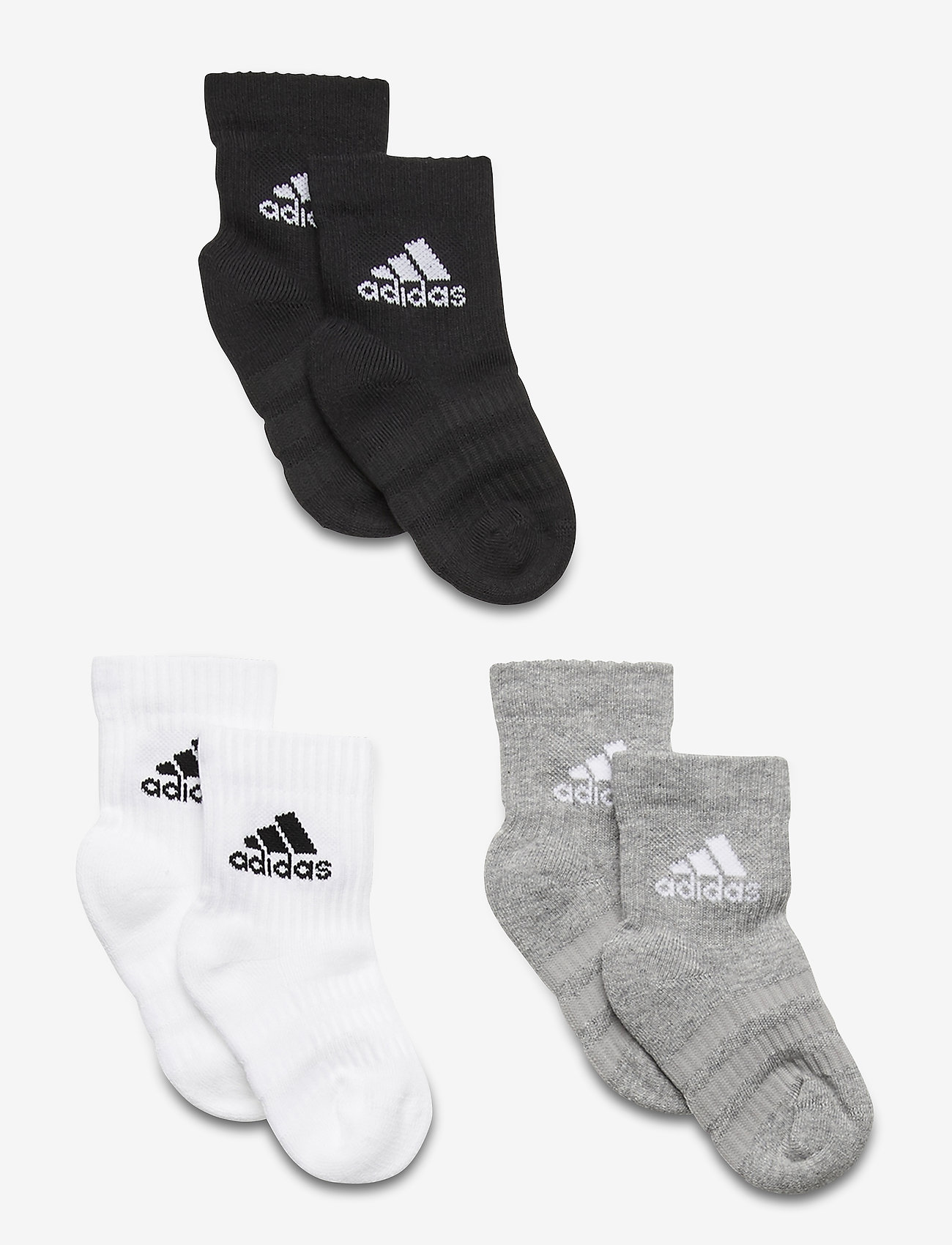 adidas Performance - Cushioned Crew Socks 3 Pairs - mgreyh/mgreyh/black - 0