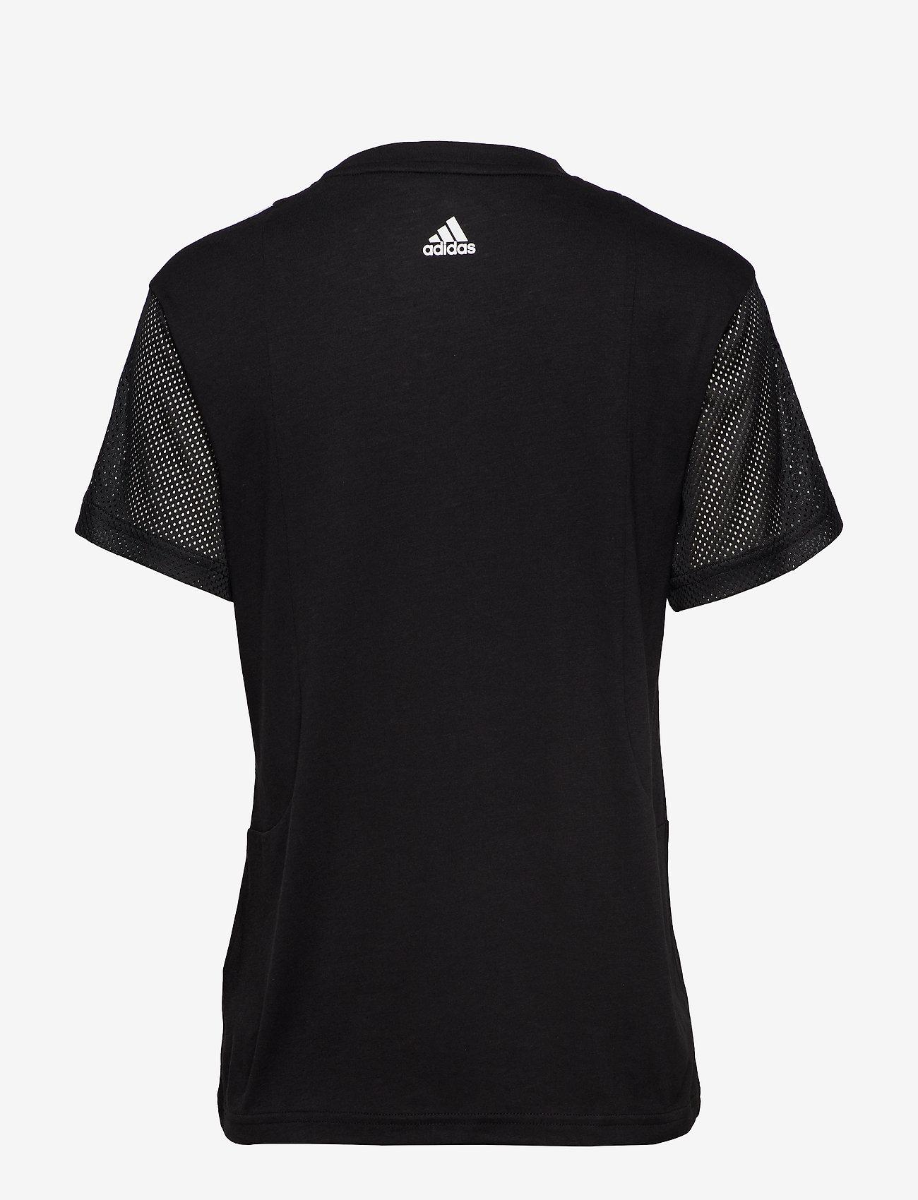 Adidas Performance 3s Mesh Slv T - T-shirts & Toppar Black