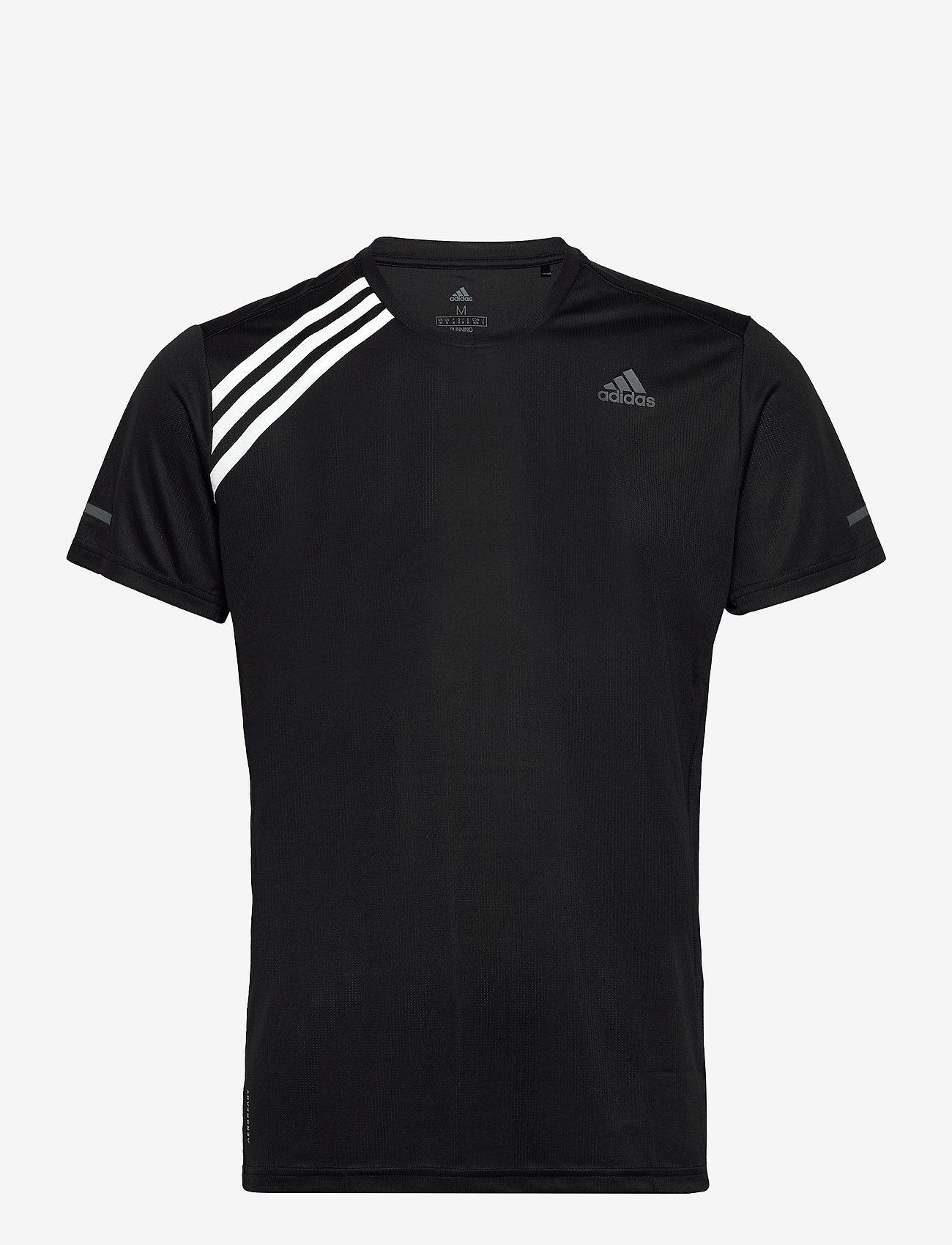 adidas Performance - Run It 3-Stripes T-Shirt - sportoberteile - black/white - 1