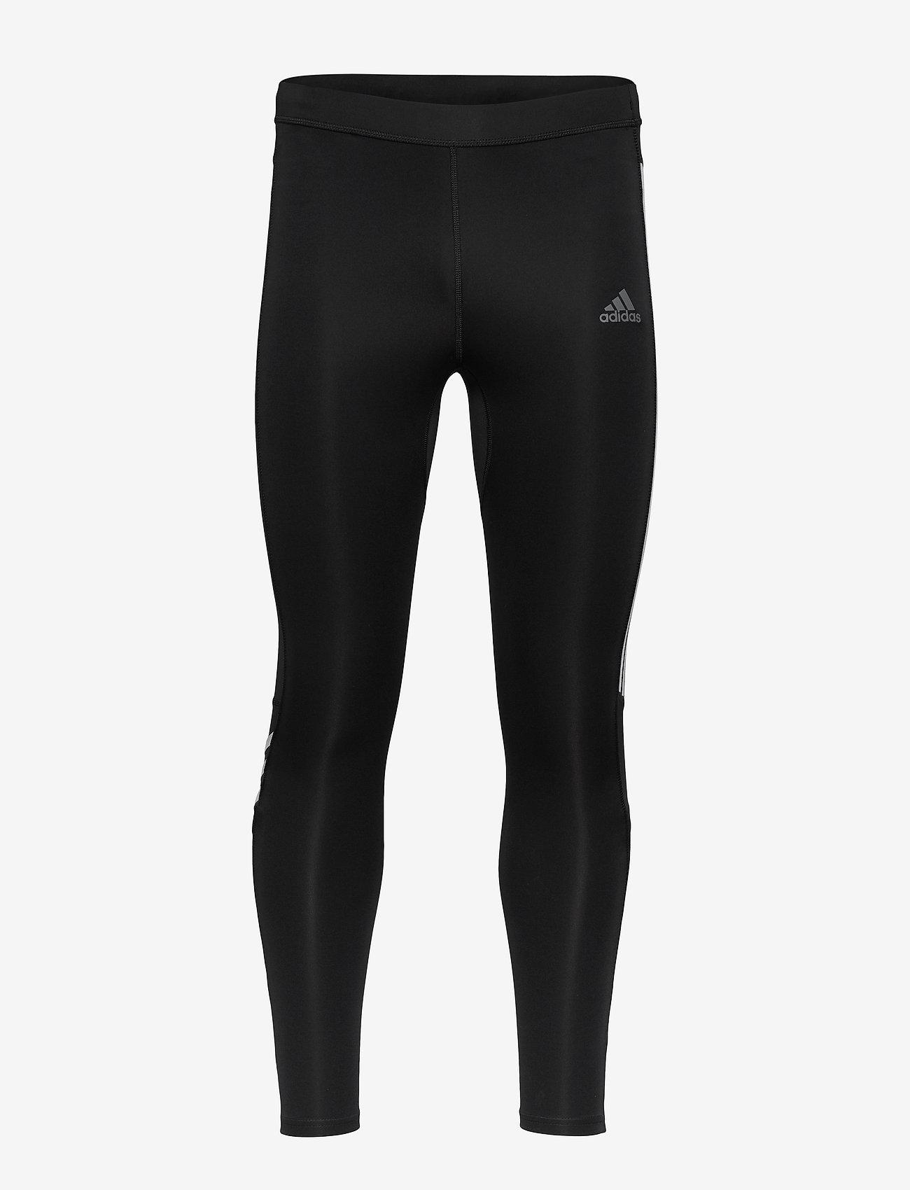 adidas Performance - Run It 3-Stripes Tights - løbe- og træningstights - black/white - 1