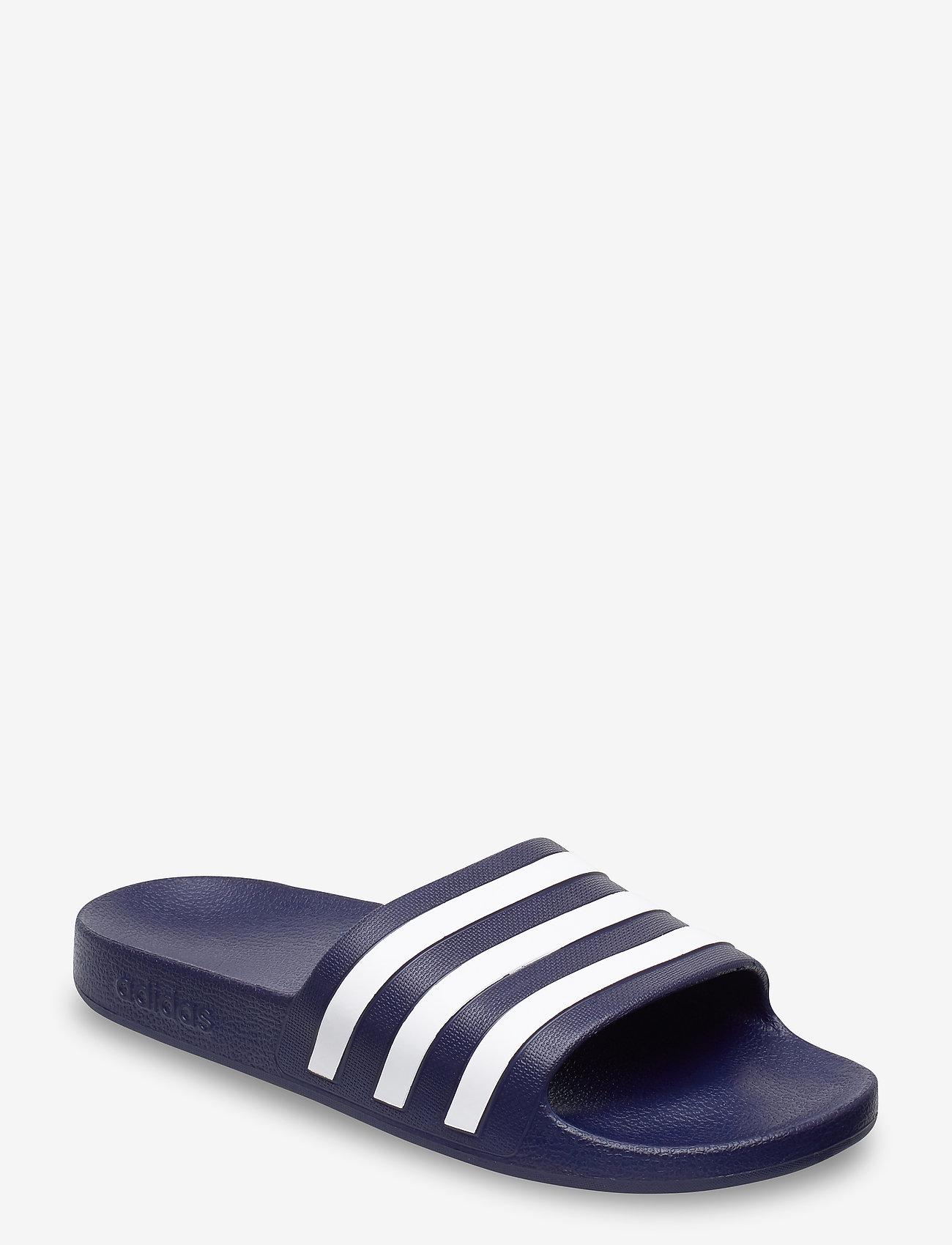 adidas Performance - ADILETTE AQUA - curseurs de piscine - dkblue/ftwwht/dkblue - 0