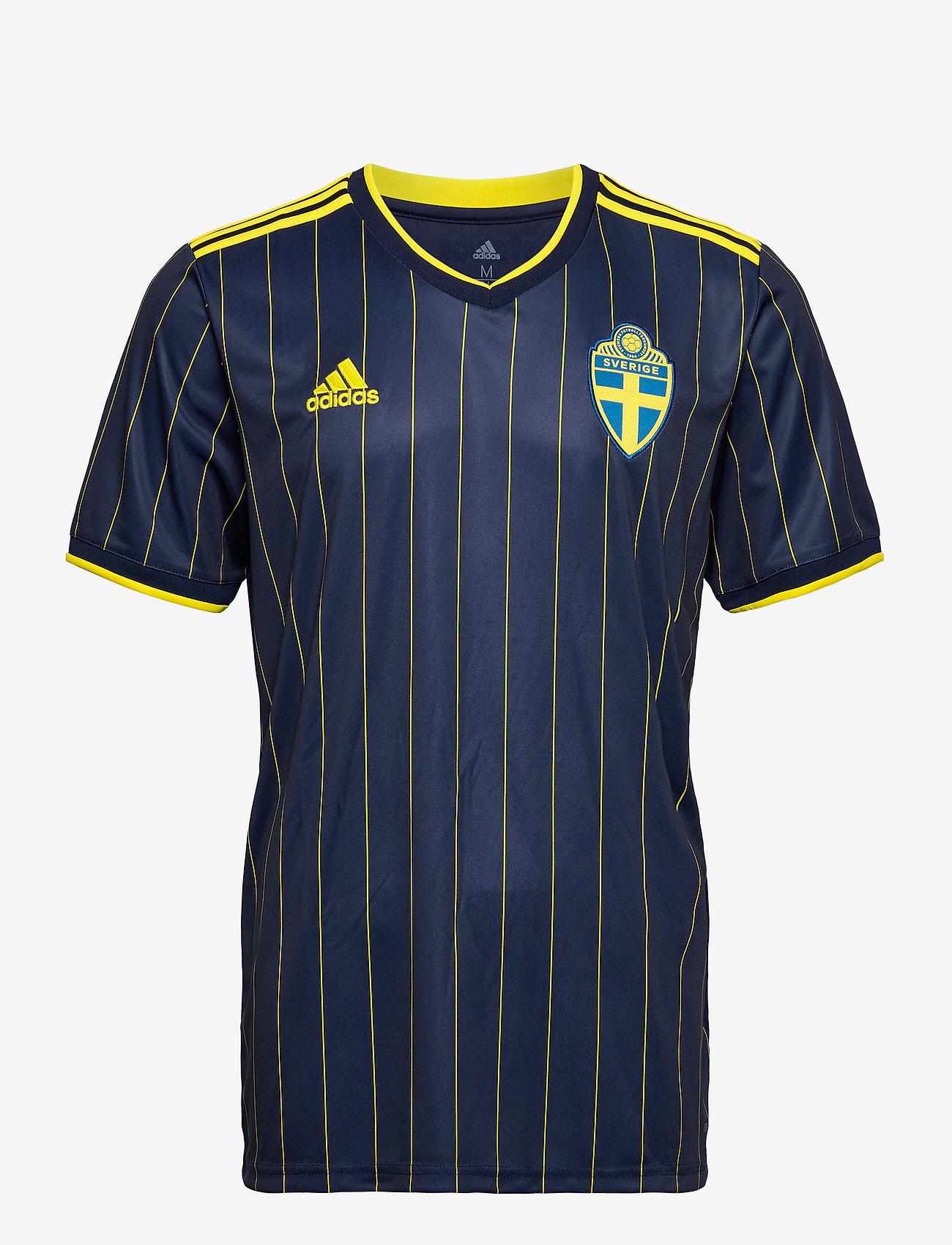 adidas Performance - Sweden 20/21 Away Jersey - football shirts - nindig/yellow - 1