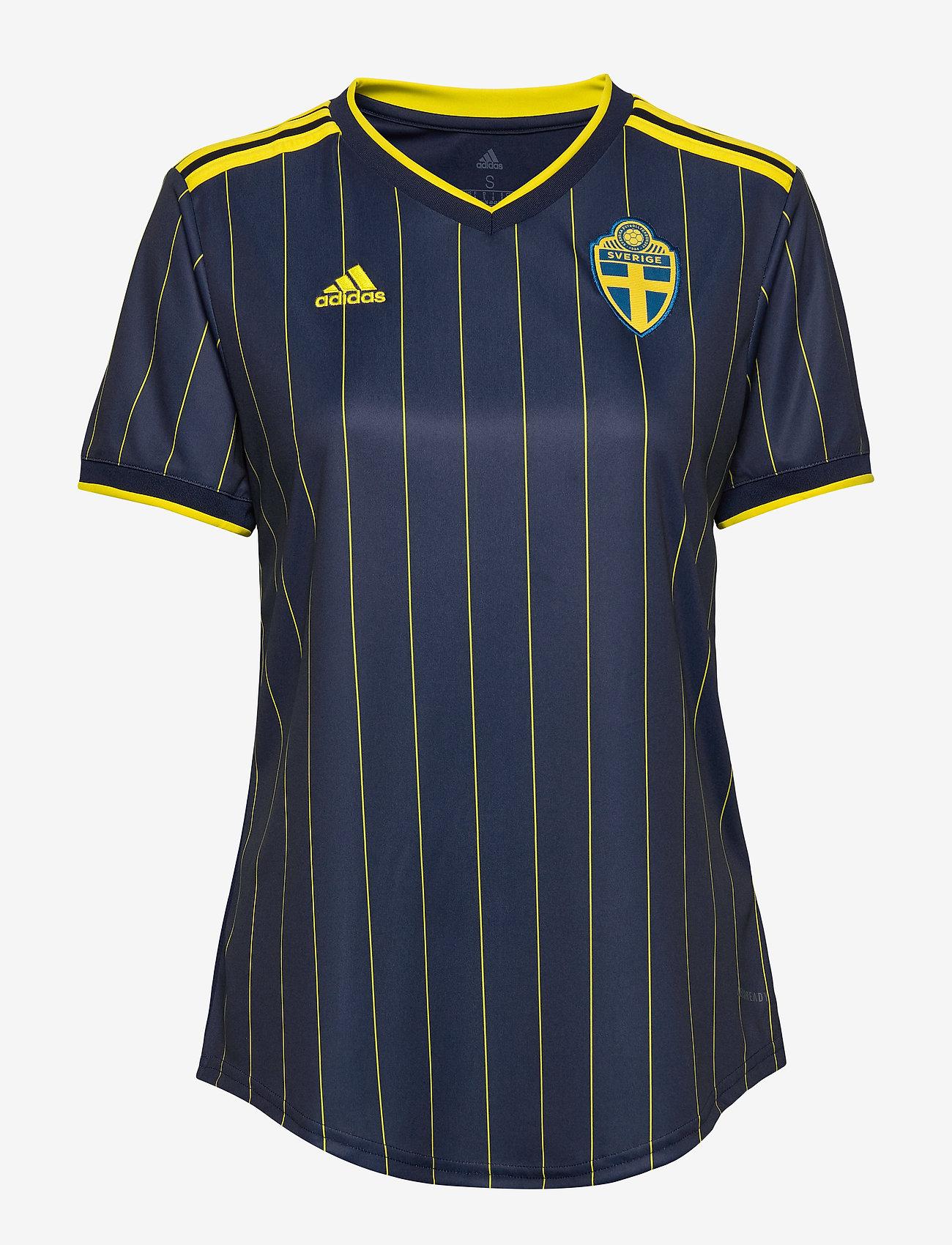 adidas Performance - Sweden 20/21 Away Jersey W - football shirts - nindig/yellow - 1