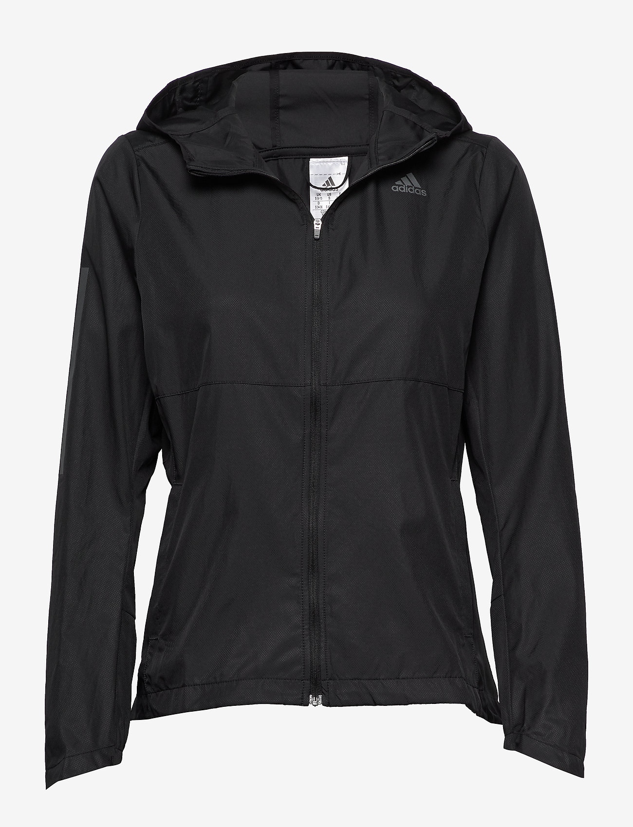 adidas Performance - Own the Run Hooded Wind Jacket W - treenitakit - black - 1