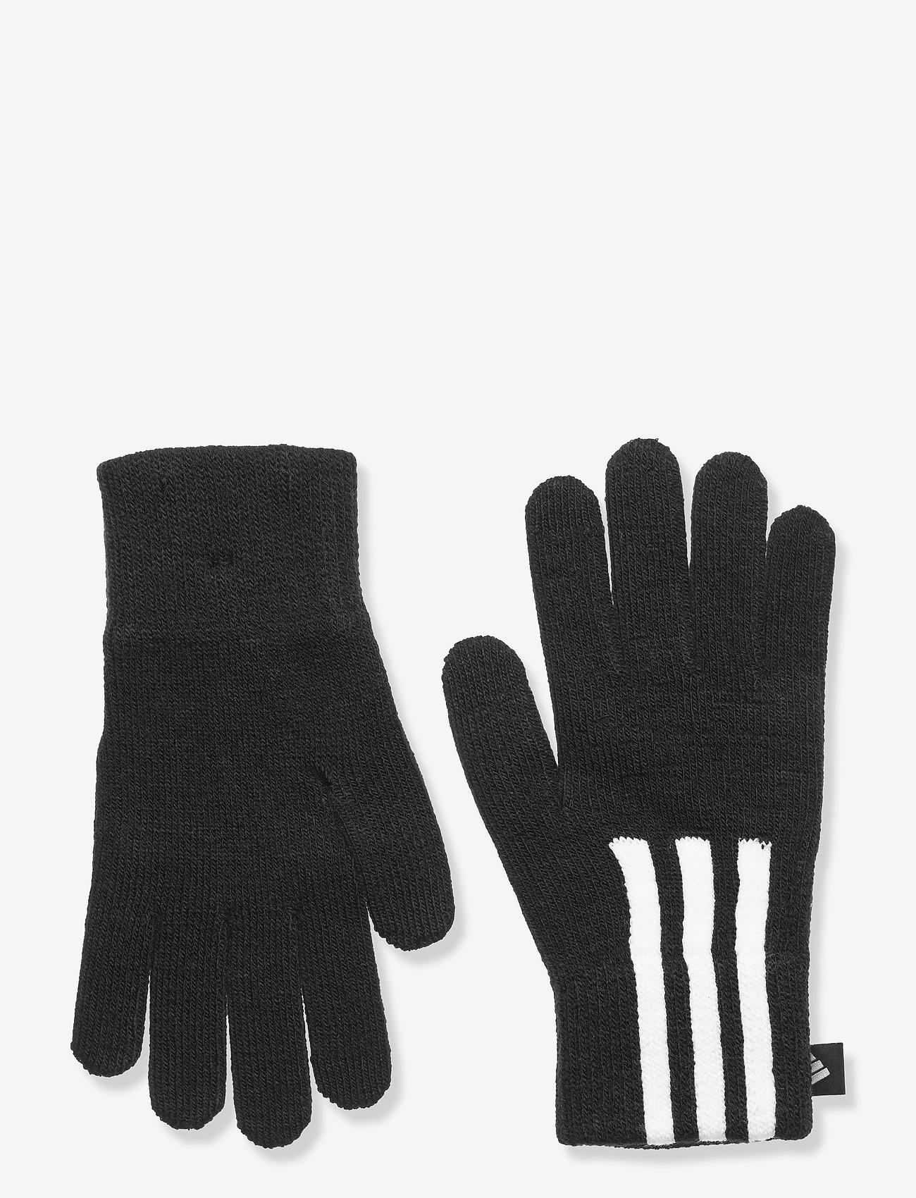 adidas Performance - 3-Stripes Conductive Gloves - accessoires - black/white/white - 0