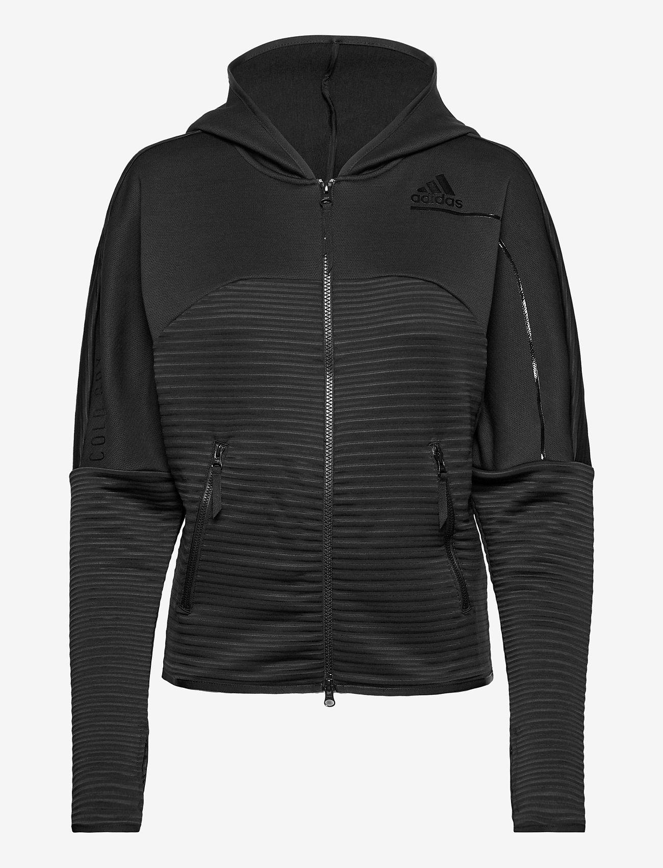adidas Performance - W ZNE A H C.RDY - hoodies - black - 1