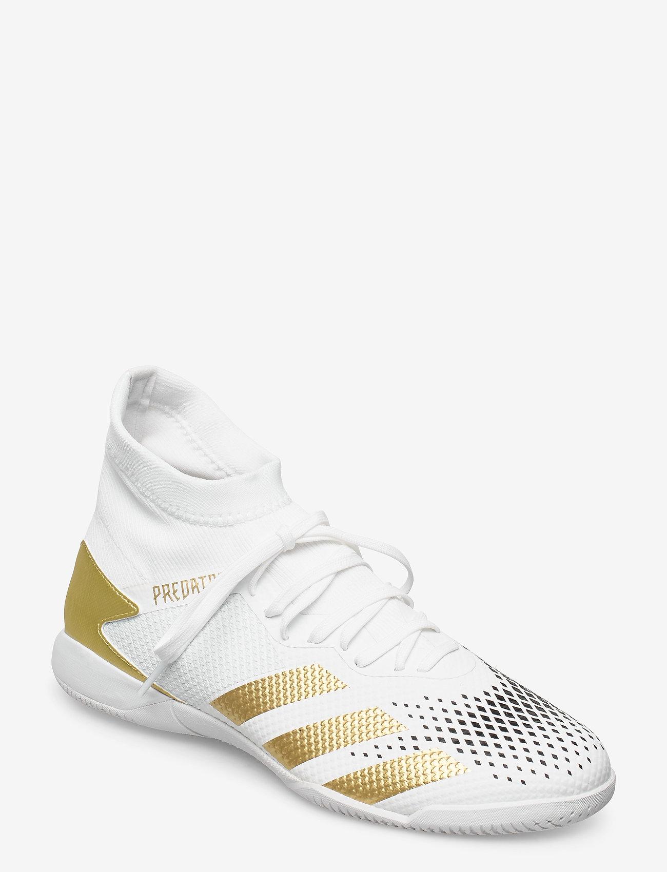 adidas Performance - PREDATOR 20.3 IN - fodboldsko - ftwwht/goldmt/cblack - 0