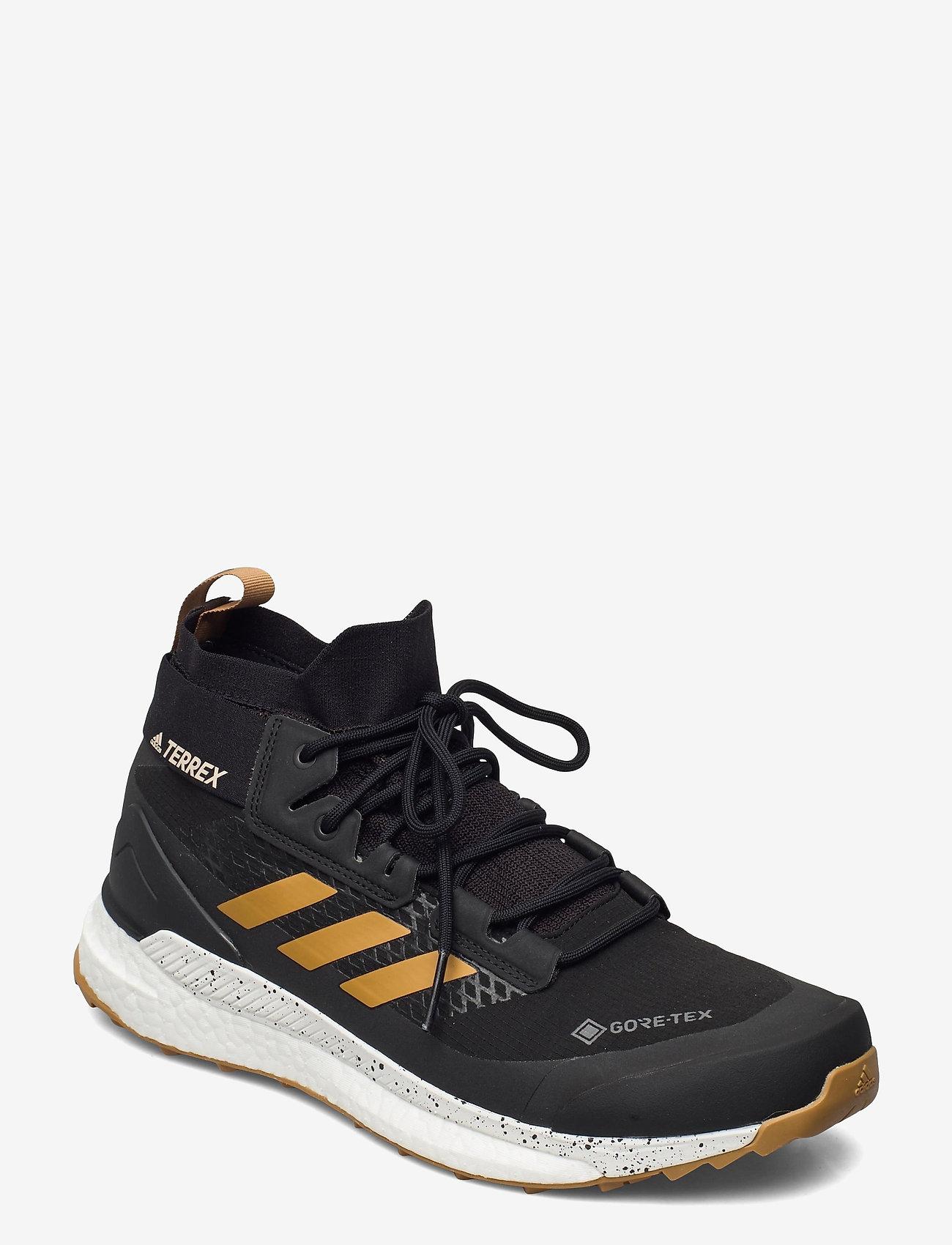 adidas Performance - Terrex Free Hiker Gore-Tex Hiking - vandringsskor - cblack/mesa/crywht - 0