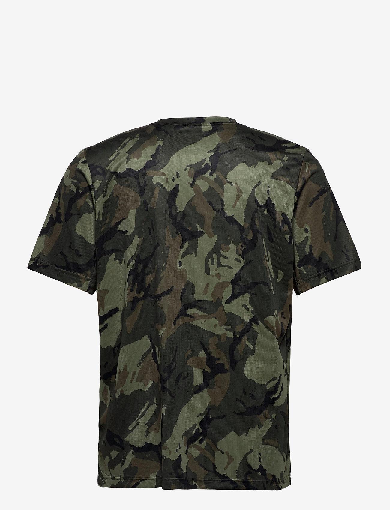 adidas Performance M D2M AOP TEE - T-skjorter LEGGRN/BLACK - Menn Klær