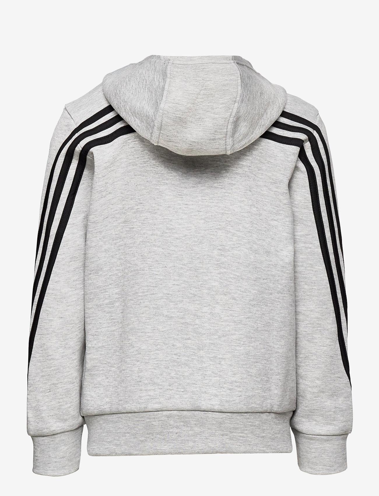 adidas Performance - B 3S FZ - kapuzenpullover - mgreyh/black - 1