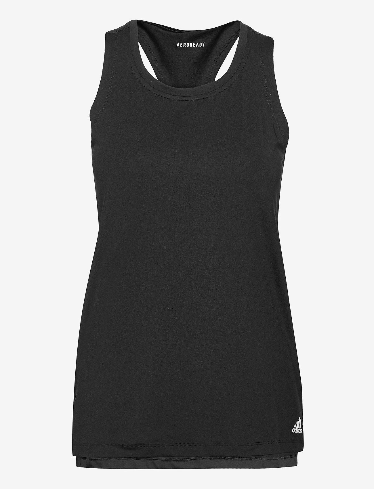 adidas Performance - Designed To Move AEROREADY Sport Tank Top W (Maternity) - topjes - black/white - 0