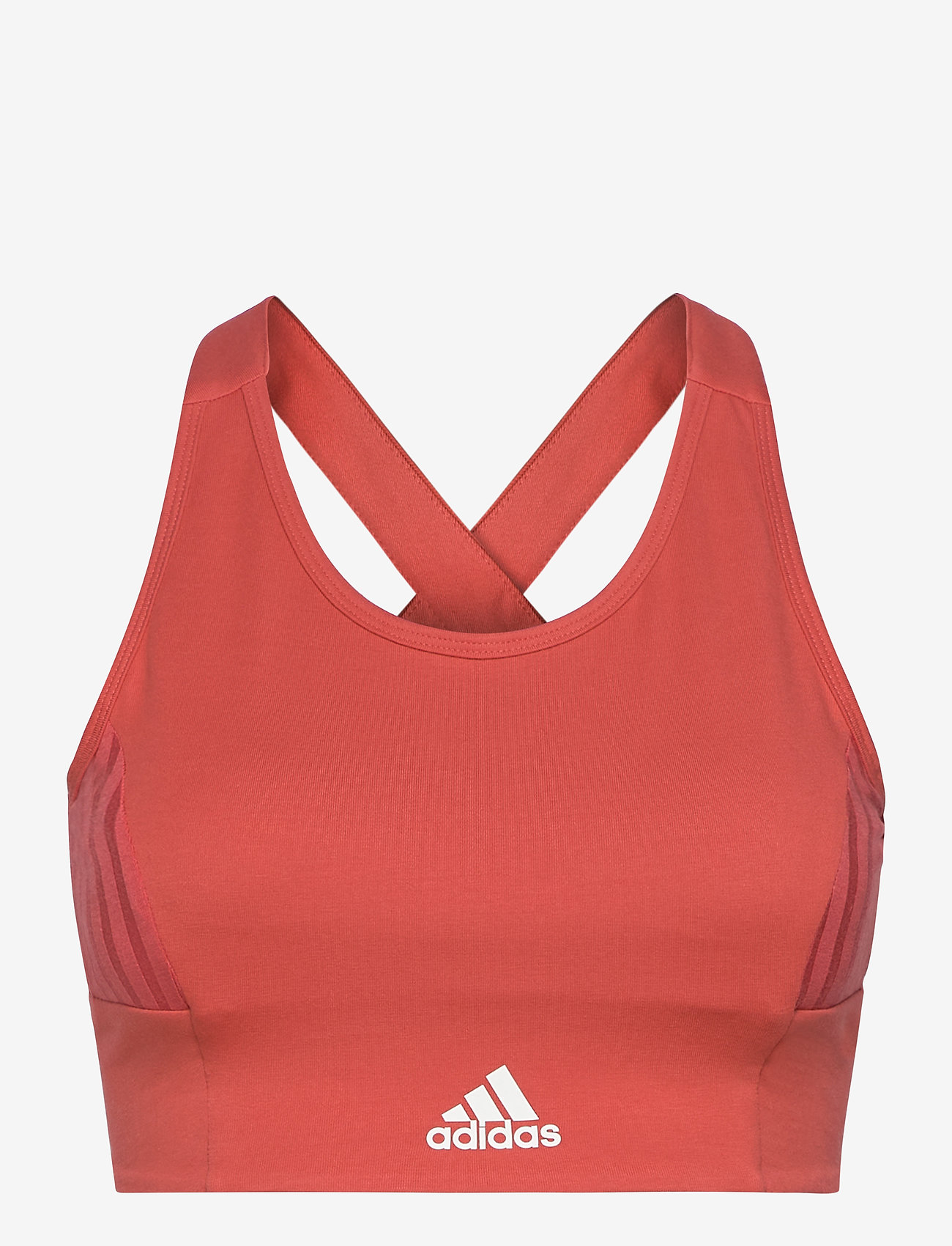 adidas Performance - Designed To Move AEROREADY Light Support Bra Top W - urheiluliivit: medium tuki - crered/white - 1