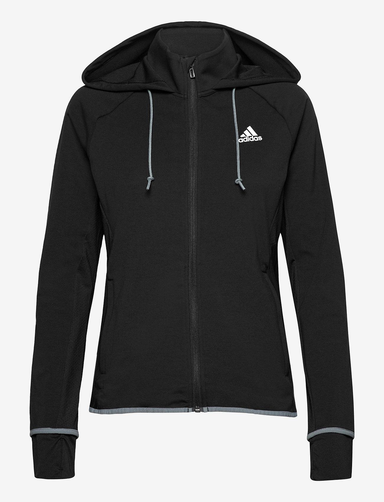 adidas Performance - Designed To Move AEROREADY Full-Zip Hoodie W - hupparit - black/white - 1