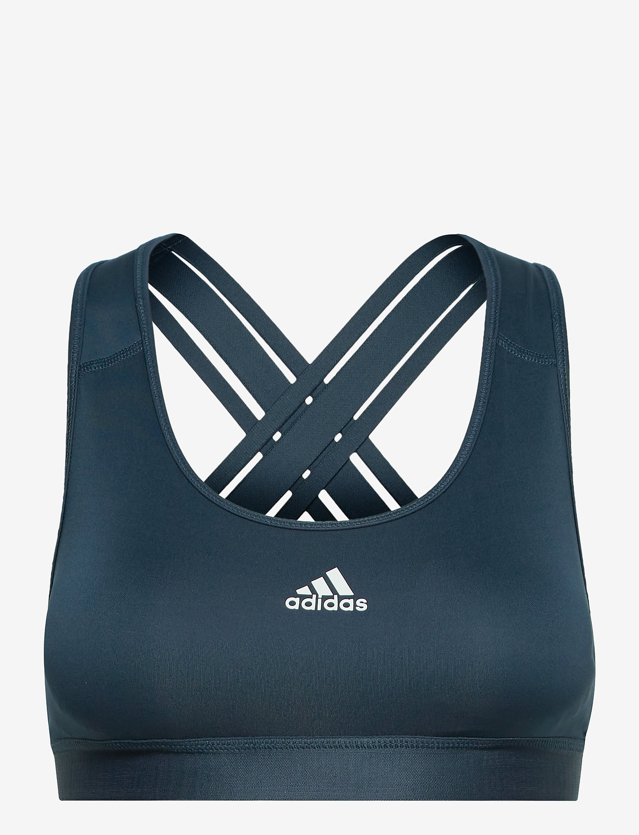 adidas Performance - Believe This Lace-Up Bra W - urheiluliivit: medium tuki - crenav/white - 1